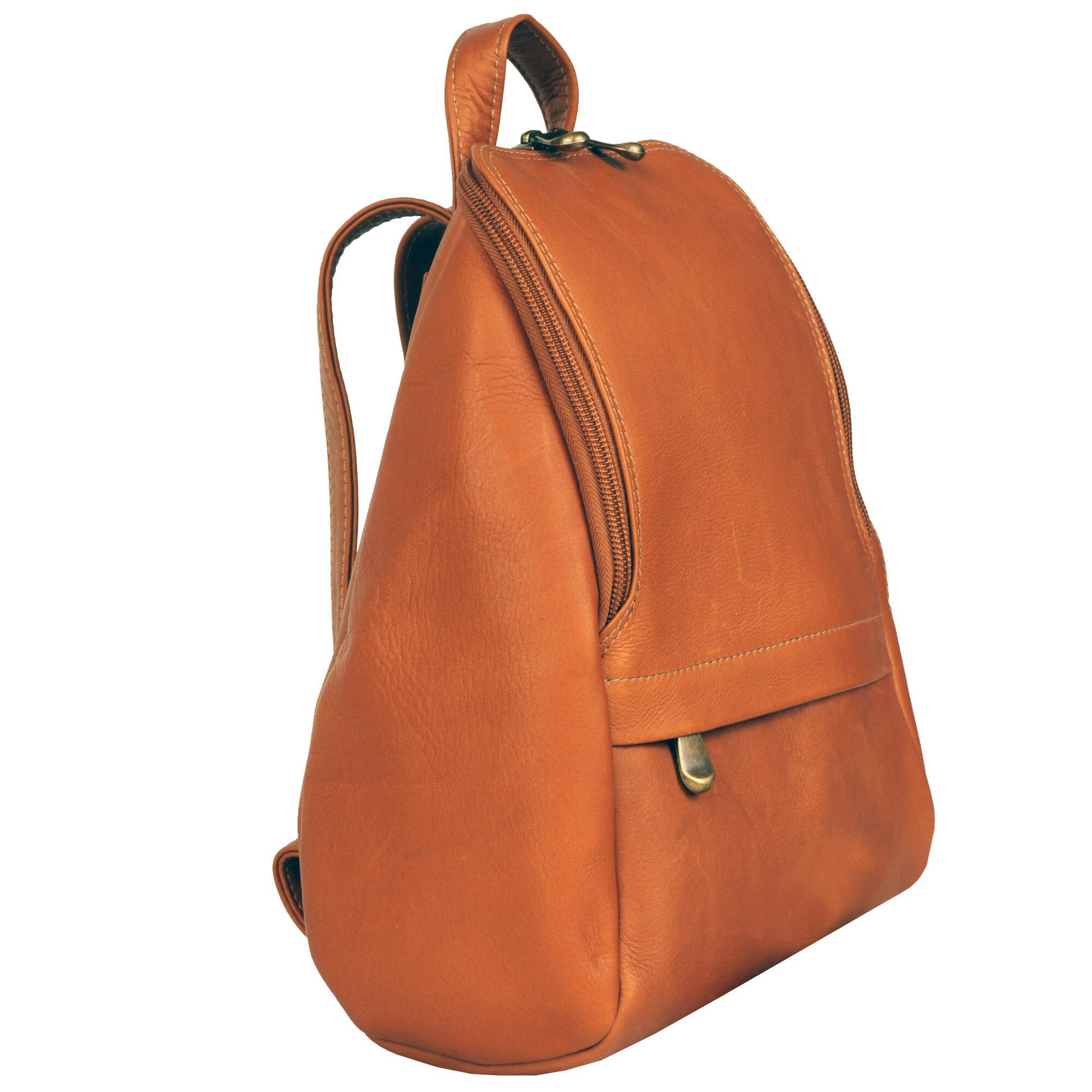 e516eef7c8 ... Le Donne Small Top Round Zip Leather Backpack - Lyst. View fullscreen