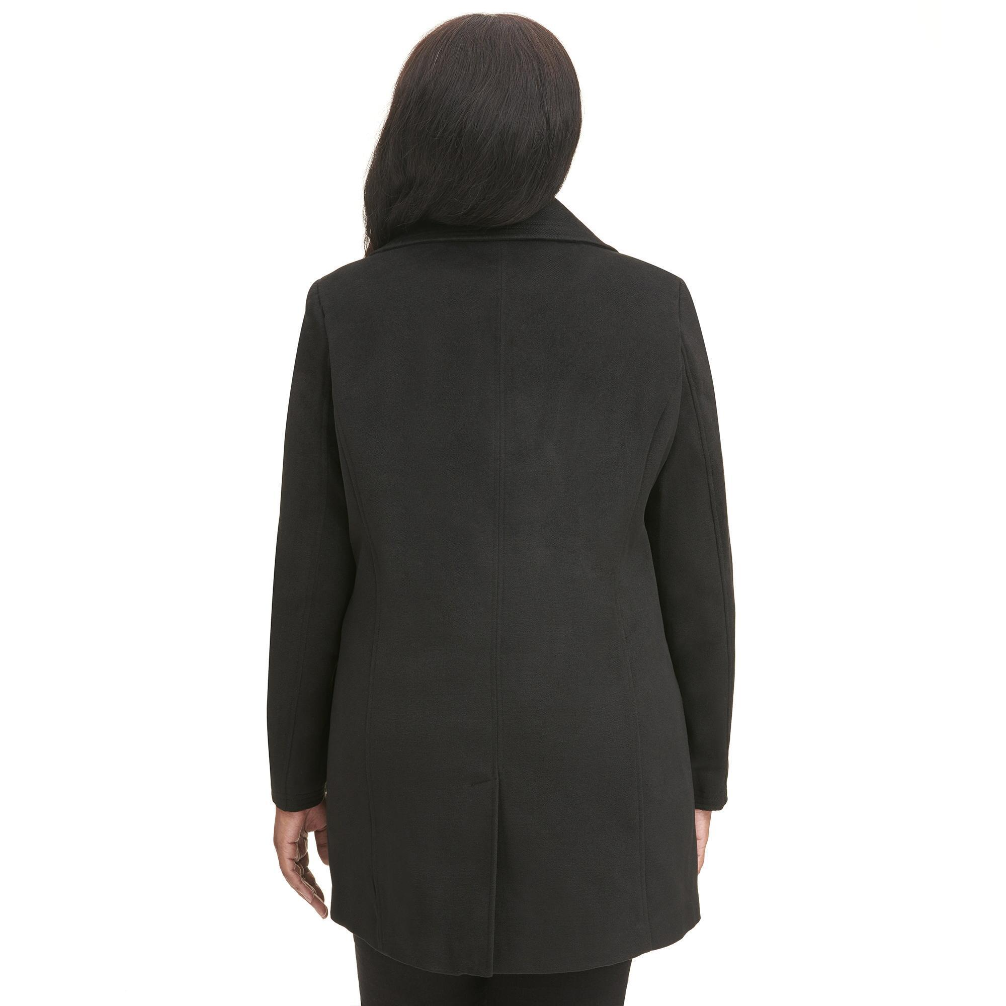 22a1c08f1a1 ... Plus Size Black Rivet Double-breasted Faux-wool Jacket - Lyst. View  fullscreen