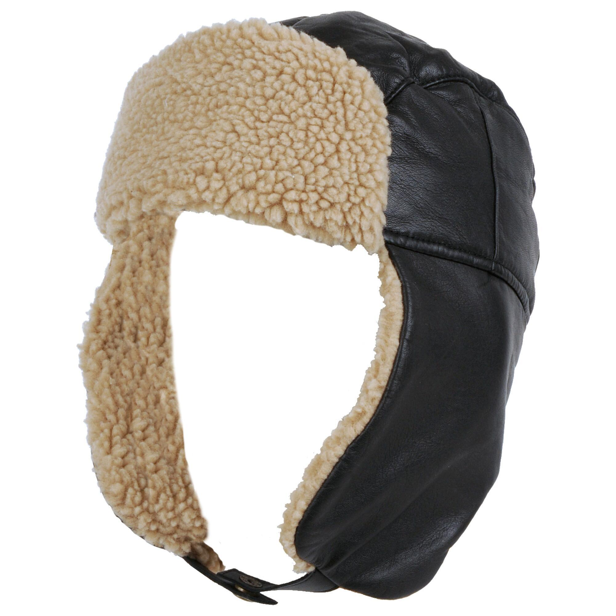 92a43125cc866 Wilsons Leather Genuine Leather Trapper Hat W  Faux-sherpa Trim in ...