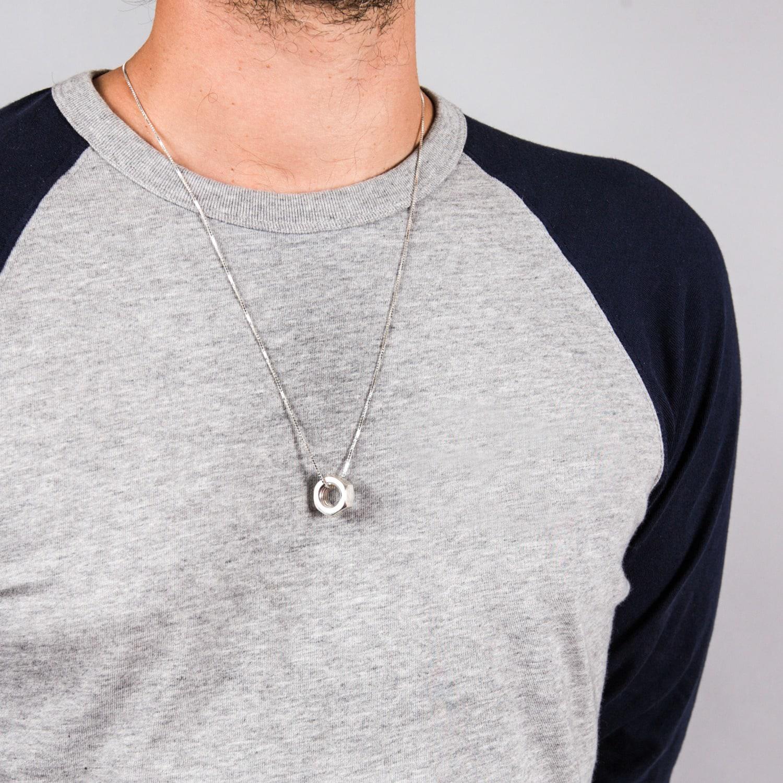 Lyst edge only hex nut pendant xl silver in metallic for men view fullscreen aloadofball Gallery