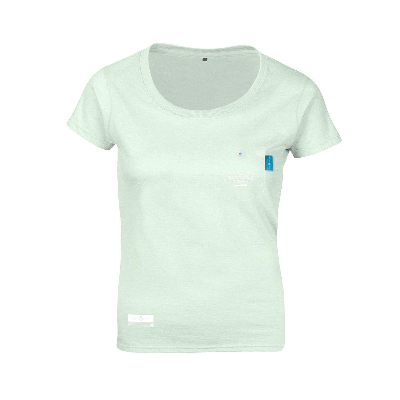 Anchor crew honeydew green travel print organic cotton t for Organic cotton t shirt printing