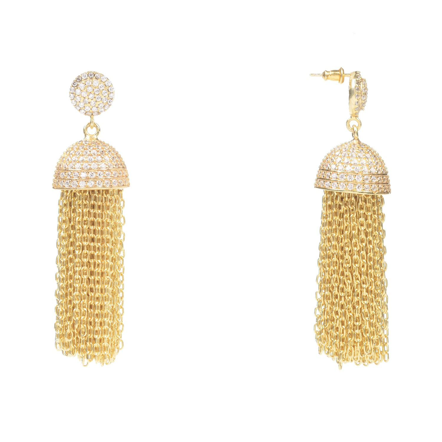 Latelita London Tassel Chain Earring Rose Gold RLSzeVS