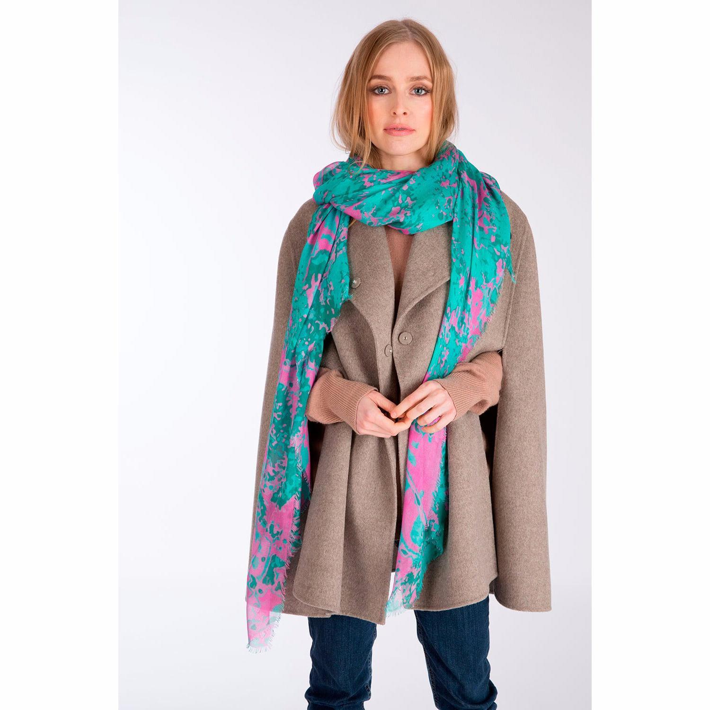 Cashmere Silk Scarf - Being, m geo by VIDA VIDA