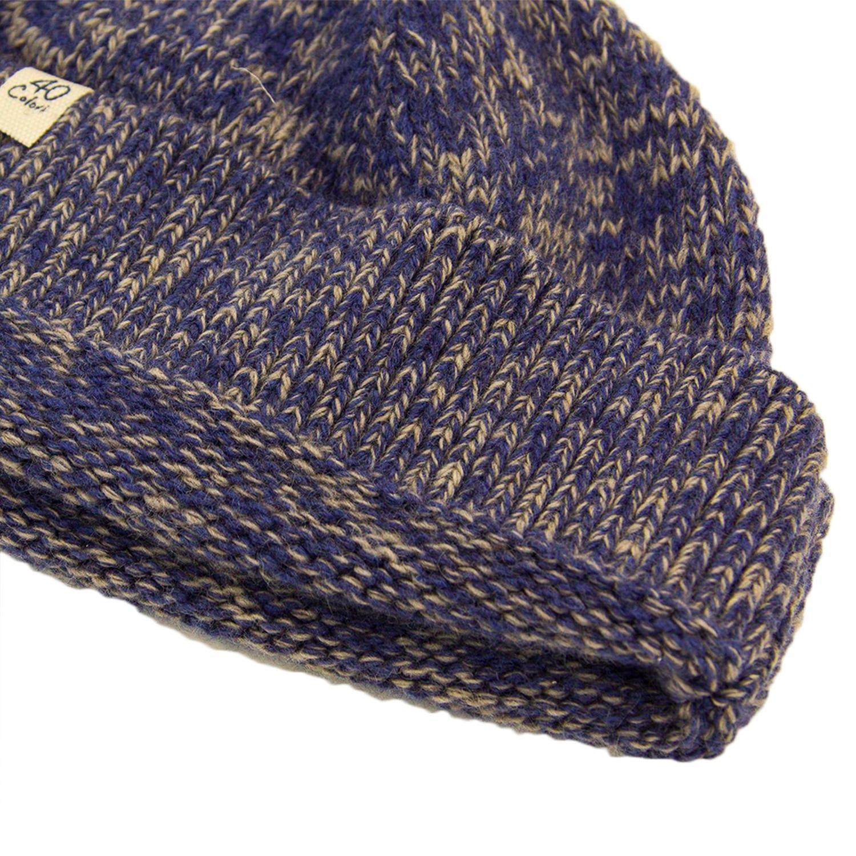 4fa0534ad70a65 40 Colori Denim Melange Wool & Cashmere Fisherman Beanie in Blue for ...