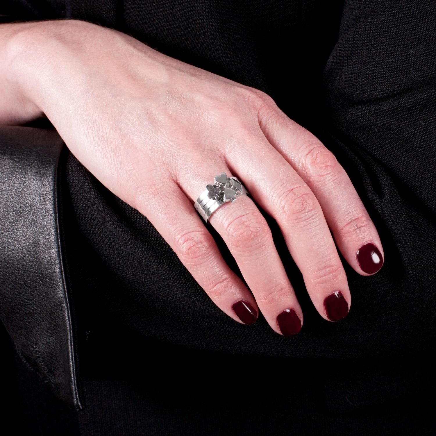 Lyst - Edge Only Club Stacking Ring Silver in Metallic