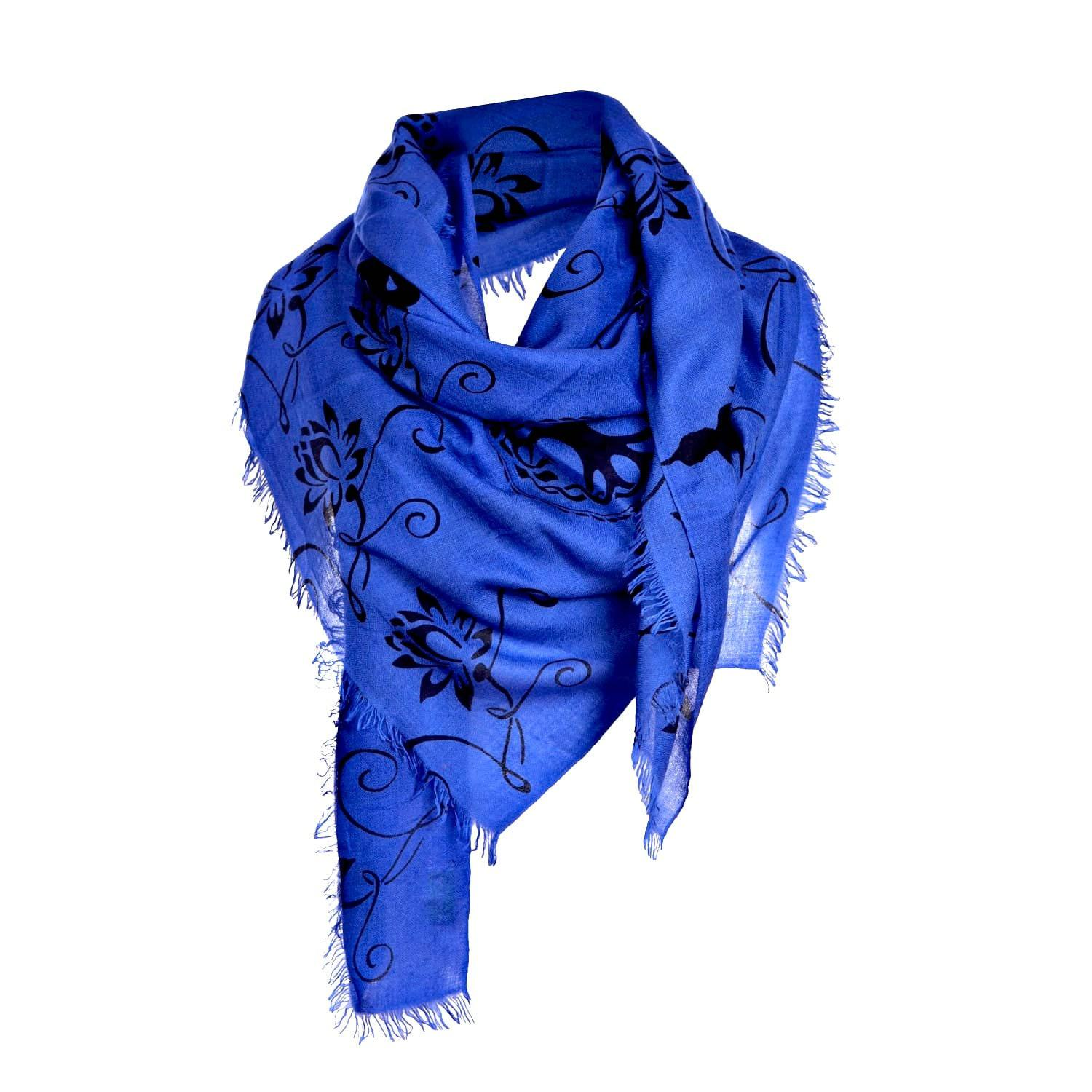 Modal Scarf - CLOUD BLUE PATTERN SCARF by VIDA VIDA