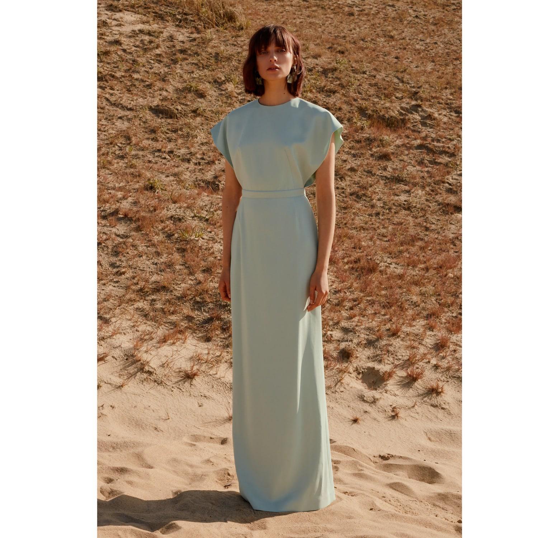 aa36f9491b50 ... Mint Green Open Back Maxi Occasion Wedding Guest Dress - Lyst. View  fullscreen