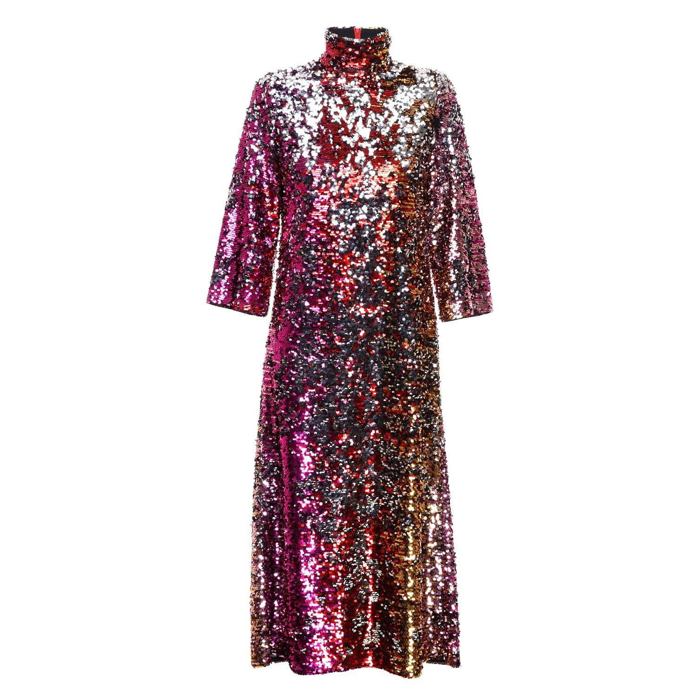 21e6099e18a Lyst - Jiri Kalfar Reversible Sequins Dress in Red