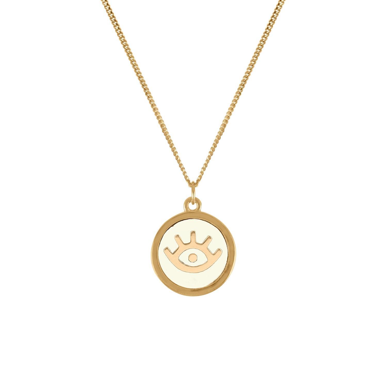 renee evil eye pendant necklace in metallic lyst