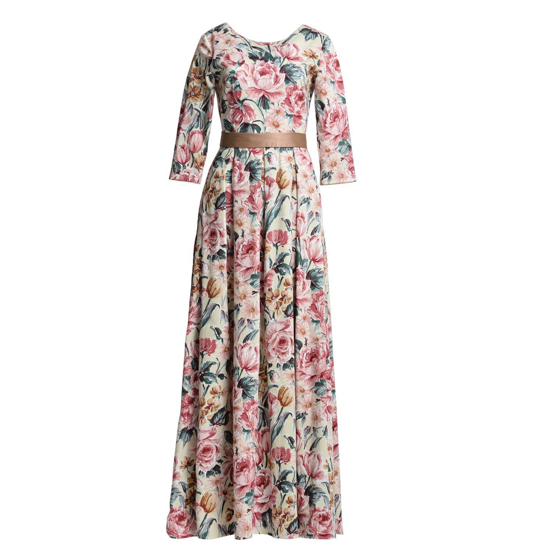 8e988374d9f MATSOUR I - Multicolor Aurora Dress Gold Floral - Lyst