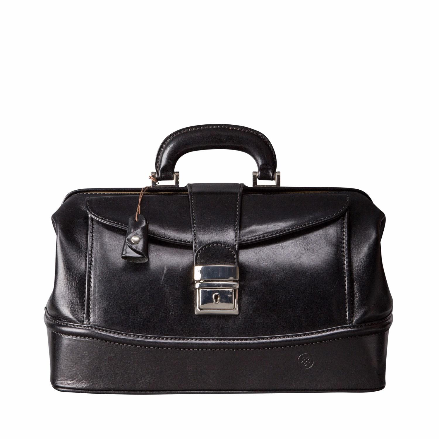 lyst maxwell scott bags the donnini s small luxury leather doctors bag black in black for men. Black Bedroom Furniture Sets. Home Design Ideas