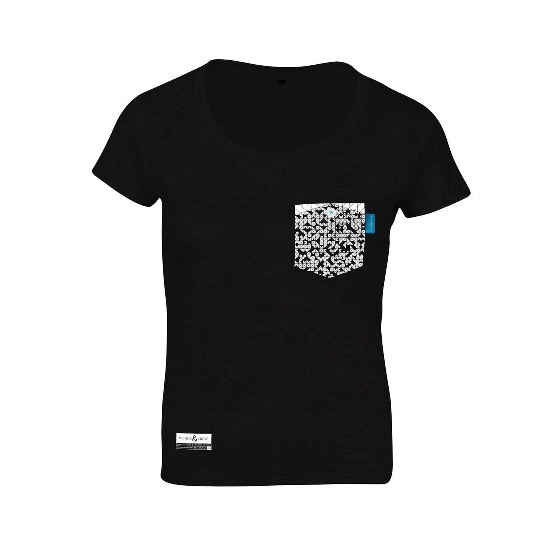 Lyst anchor crew black noir digit print organic cotton for Organic cotton t shirt printing