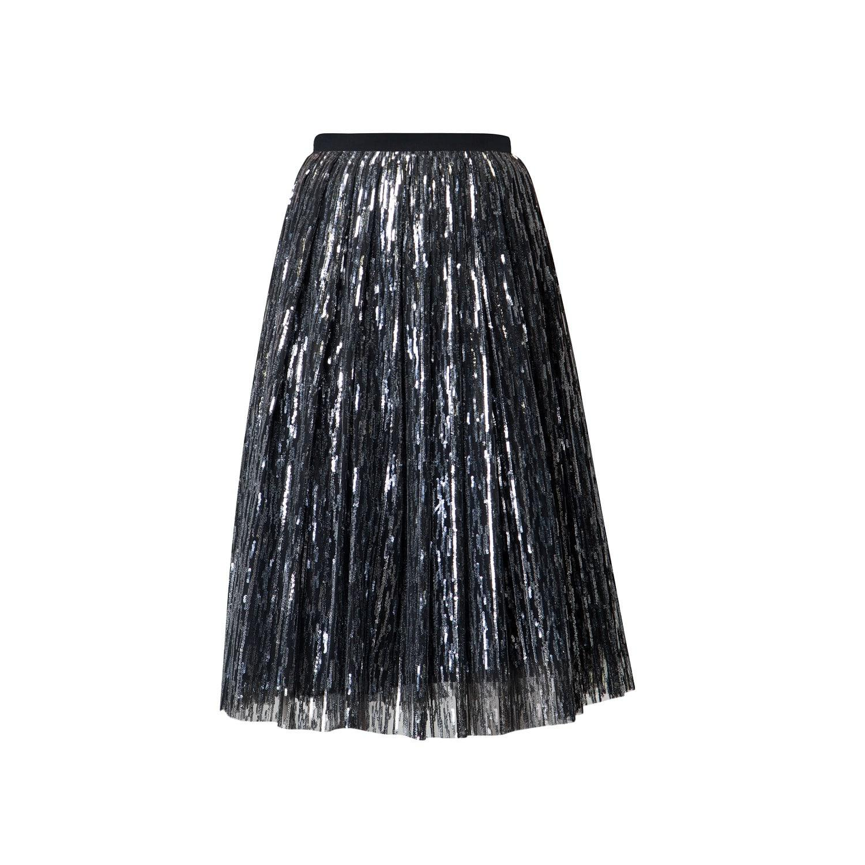 ac2fd96127 Lyst - Rumour London Fairy Midi Sequined Skirt In Silver in Metallic