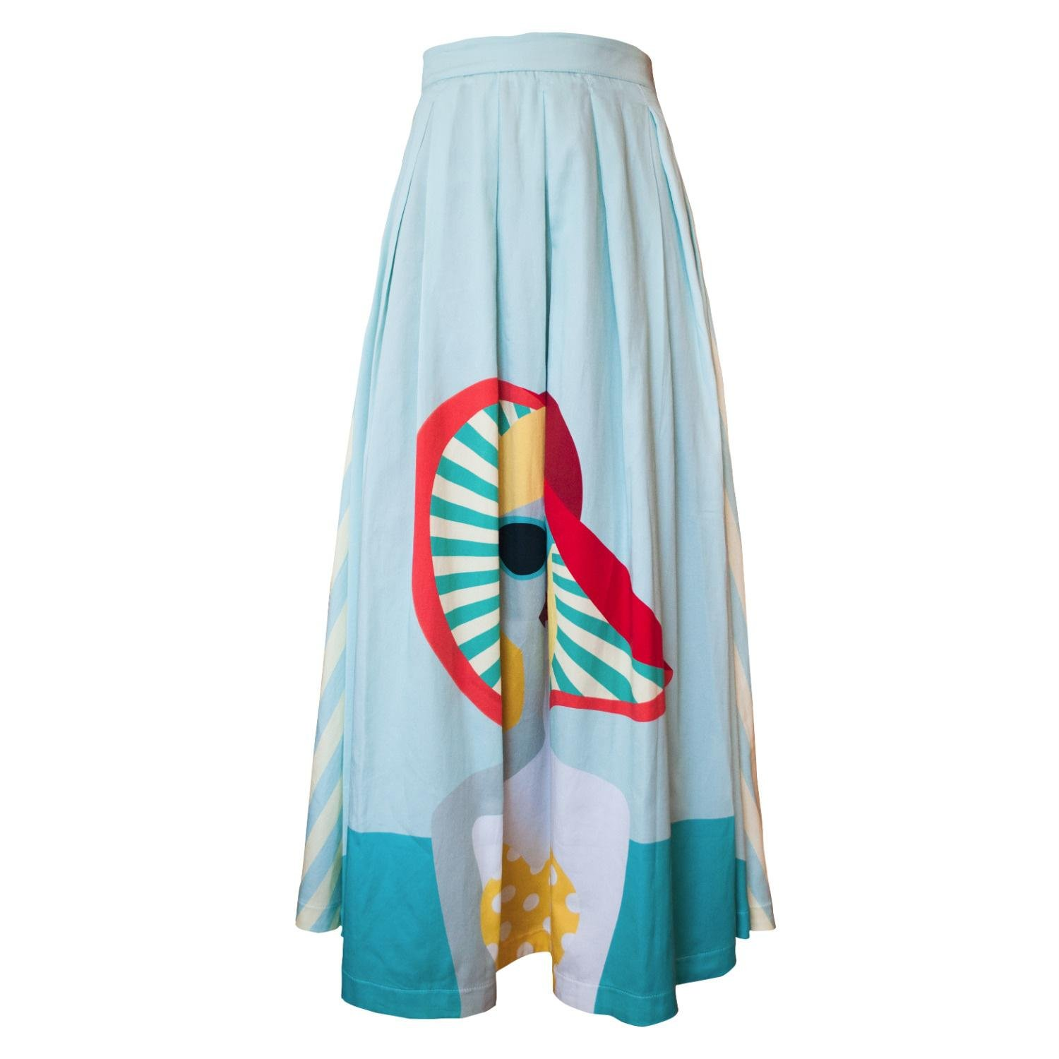My Pair Of Jeans Ladysun Maxi Skirt In Blue Lyst Jolie Clothing Patsy Mini Dress Gallery