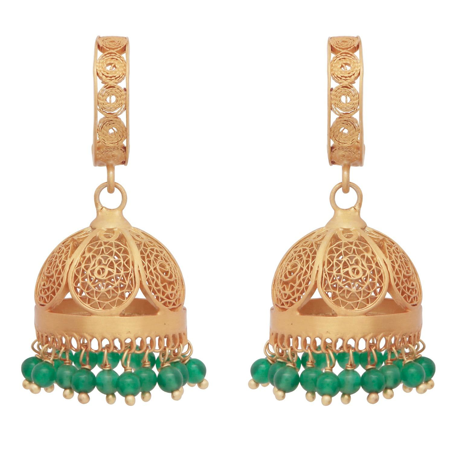 Lyst carousel jewels gold green onyx chandelier statement carousel jewels womens gold green onyx chandelier statement earrings aloadofball