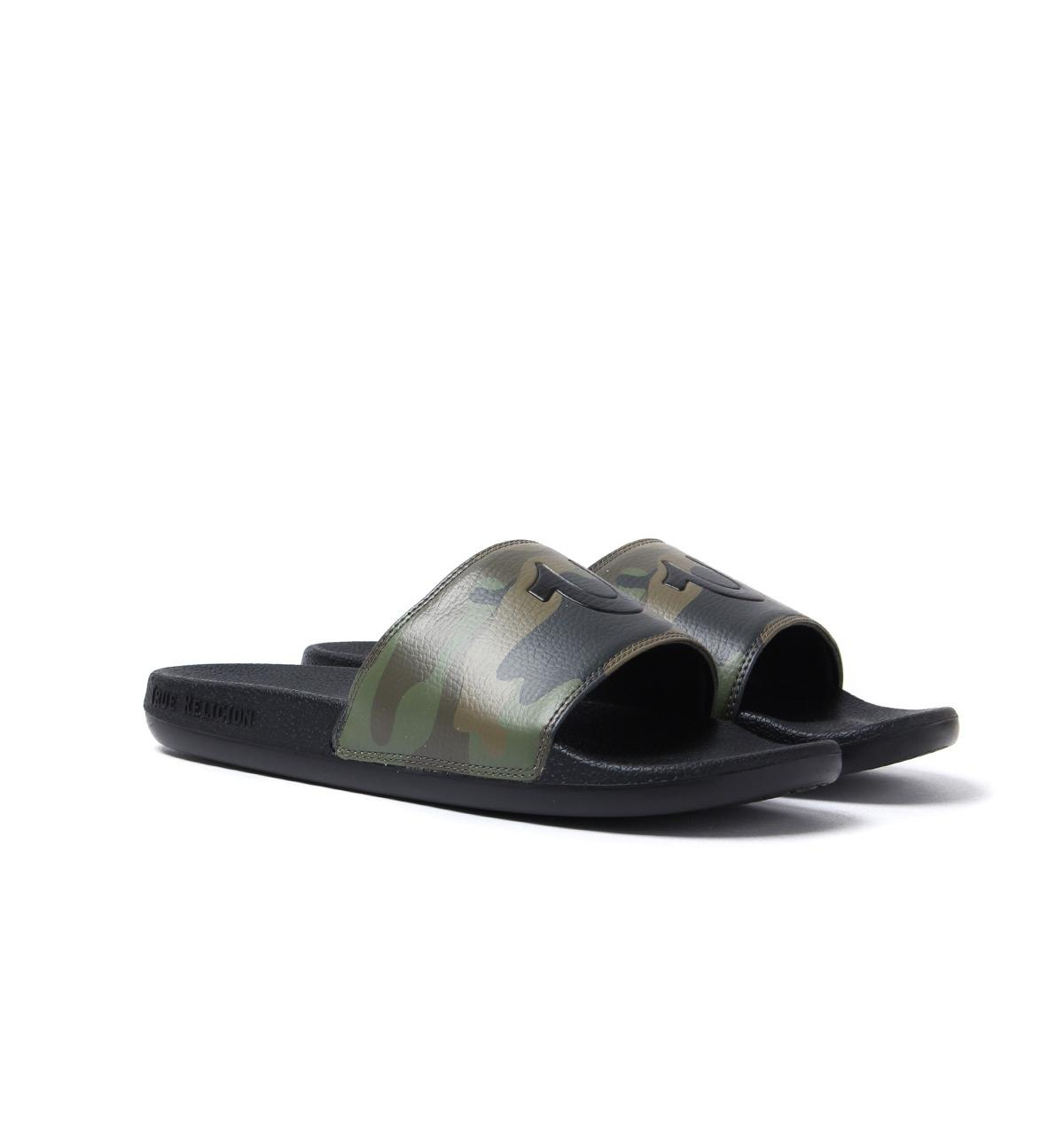 62311b9b91cc True Religion - Camo   Black Pool Slides With Woven Carry Bag for Men - Lyst.  View fullscreen
