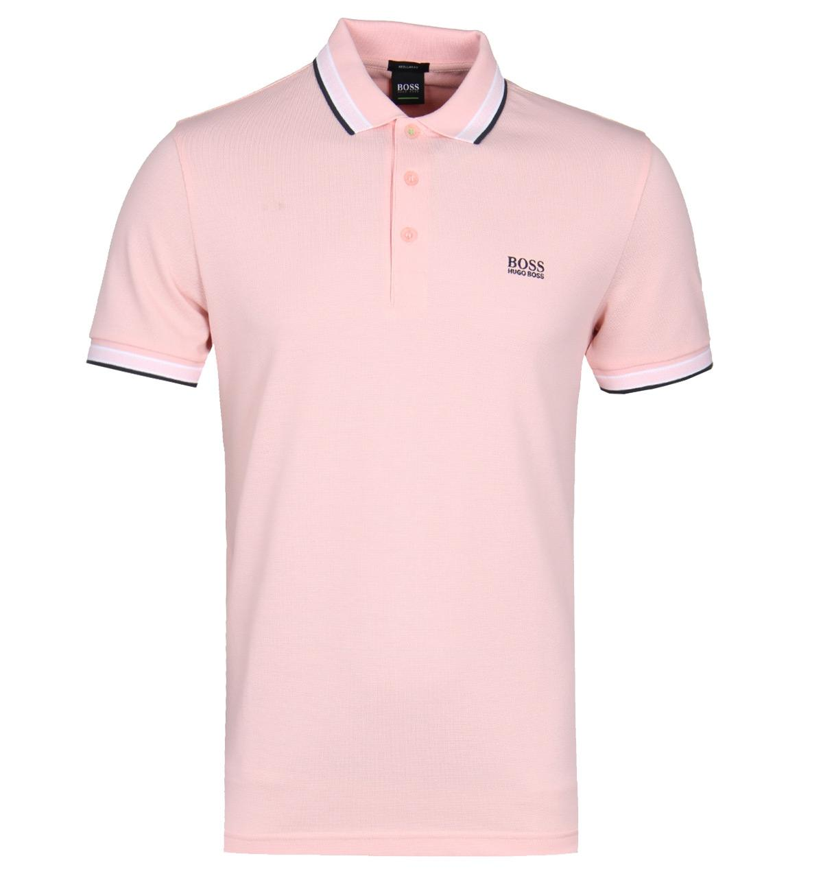 9a9e9aa34734 Boss Athleisure Paddy Pink Polo Shirt in Pink for Men - Lyst