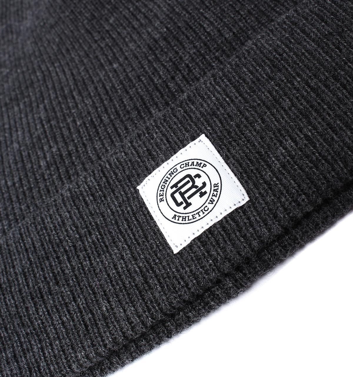 84c5b410215 Lyst - Reigning Champ Heather Charcoal Merino Wool Beanie in Gray ...