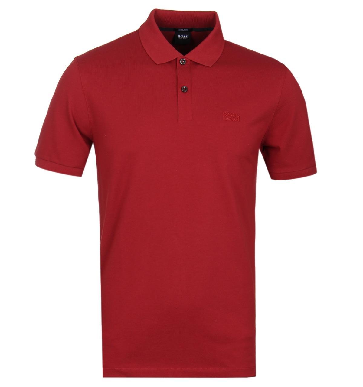 3e62339f BOSS - Pima Pique Dark Red Polo Shirt for Men - Lyst. View fullscreen