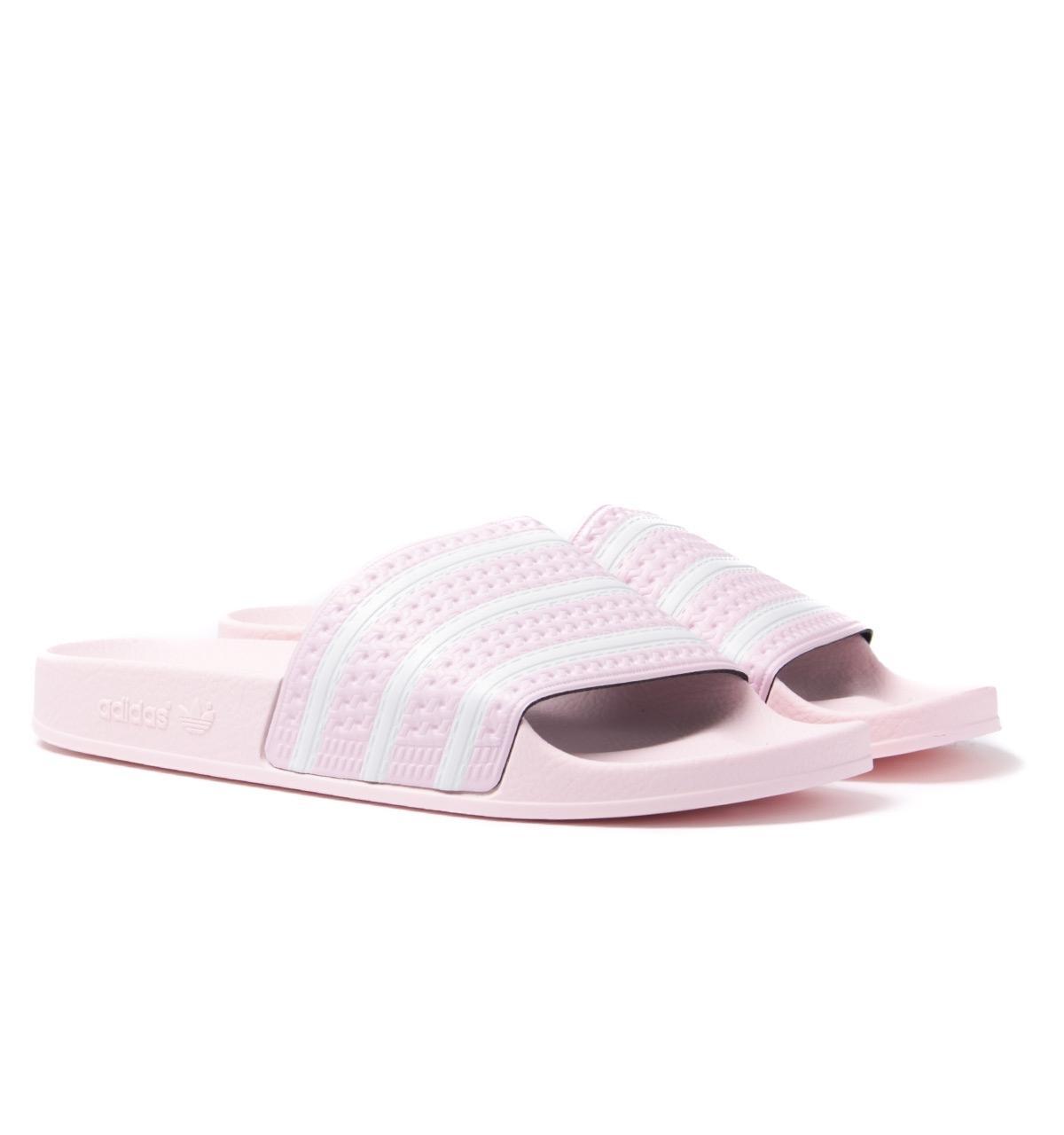 bbcb4af19672 adidas Originals Adilette Pink Slides in Pink for Men - Lyst