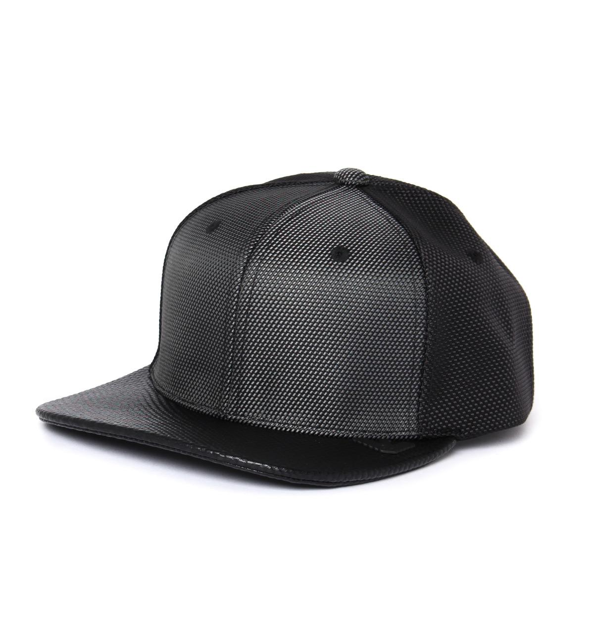 14ffd4d9985 Lyst - Armani Jeans Black Mesh Embossed Snap-back Baseball Cap in ...