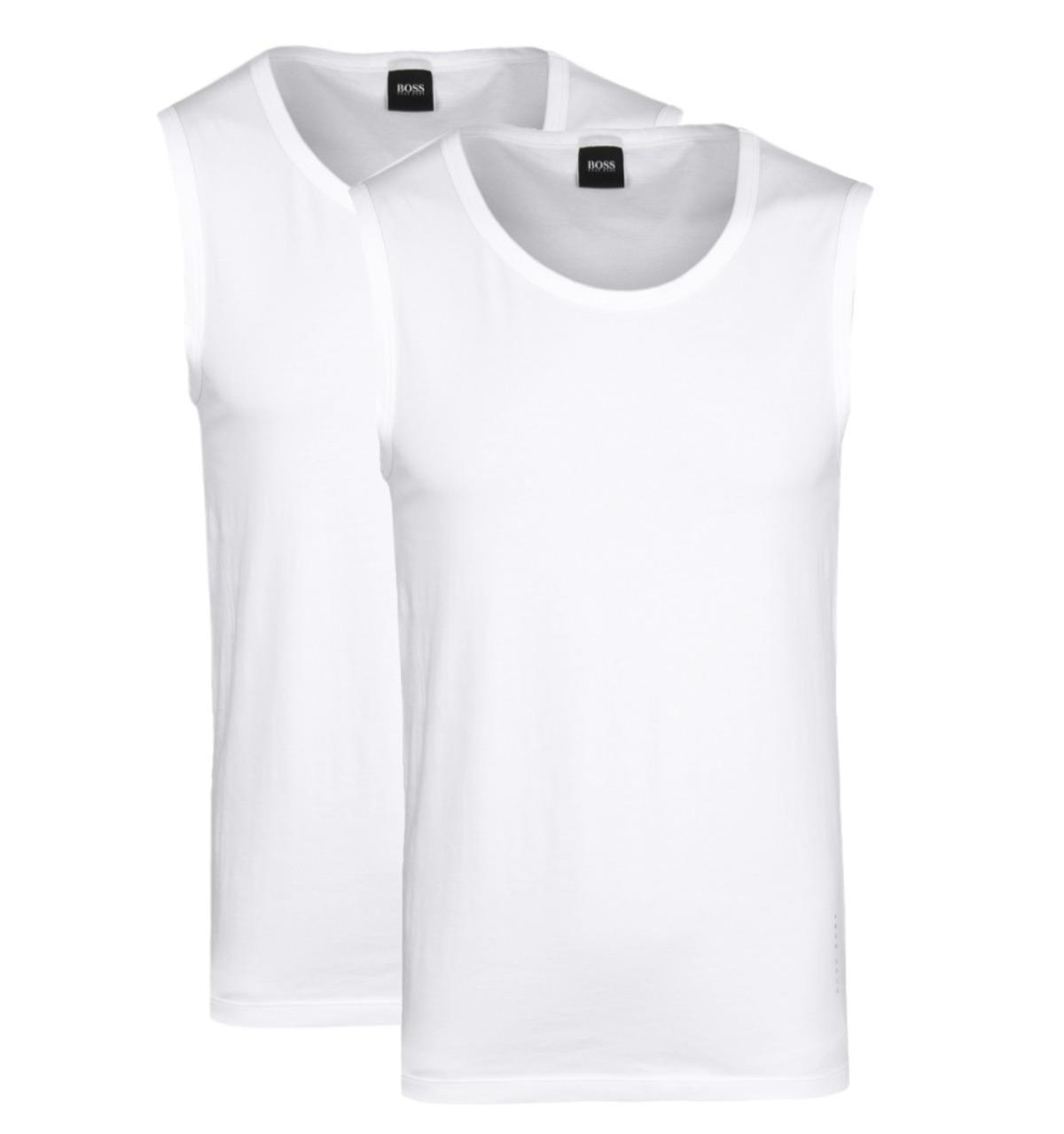 822ad78261df9 Lyst - BOSS 2 Pack White Jersey Slim Fit Tank Top Vests in White for Men