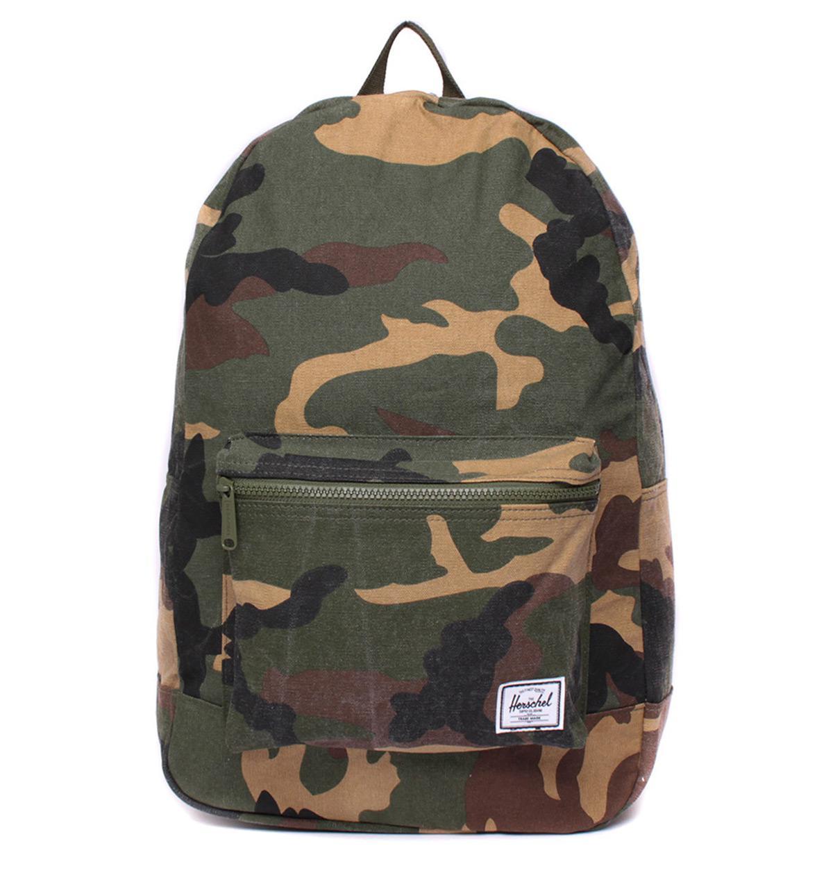 6c99b2ec56 Herschel Supply Co. Men s Green Daypack Woodland Camo Cotton Canvas Backpack