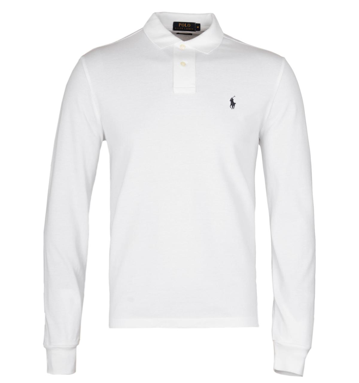 Lyst - Polo Ralph Lauren White Long Sleeve Mesh Polo Shirt in White for Men
