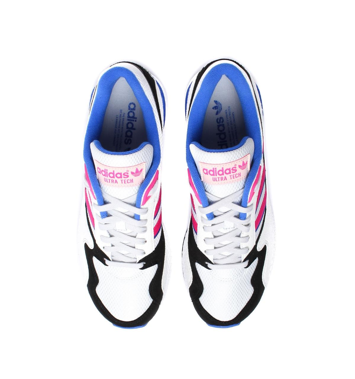 big sale 9e8e3 4971b Lyst - adidas Originals White, Pink  Black Ultra Tech in Whi