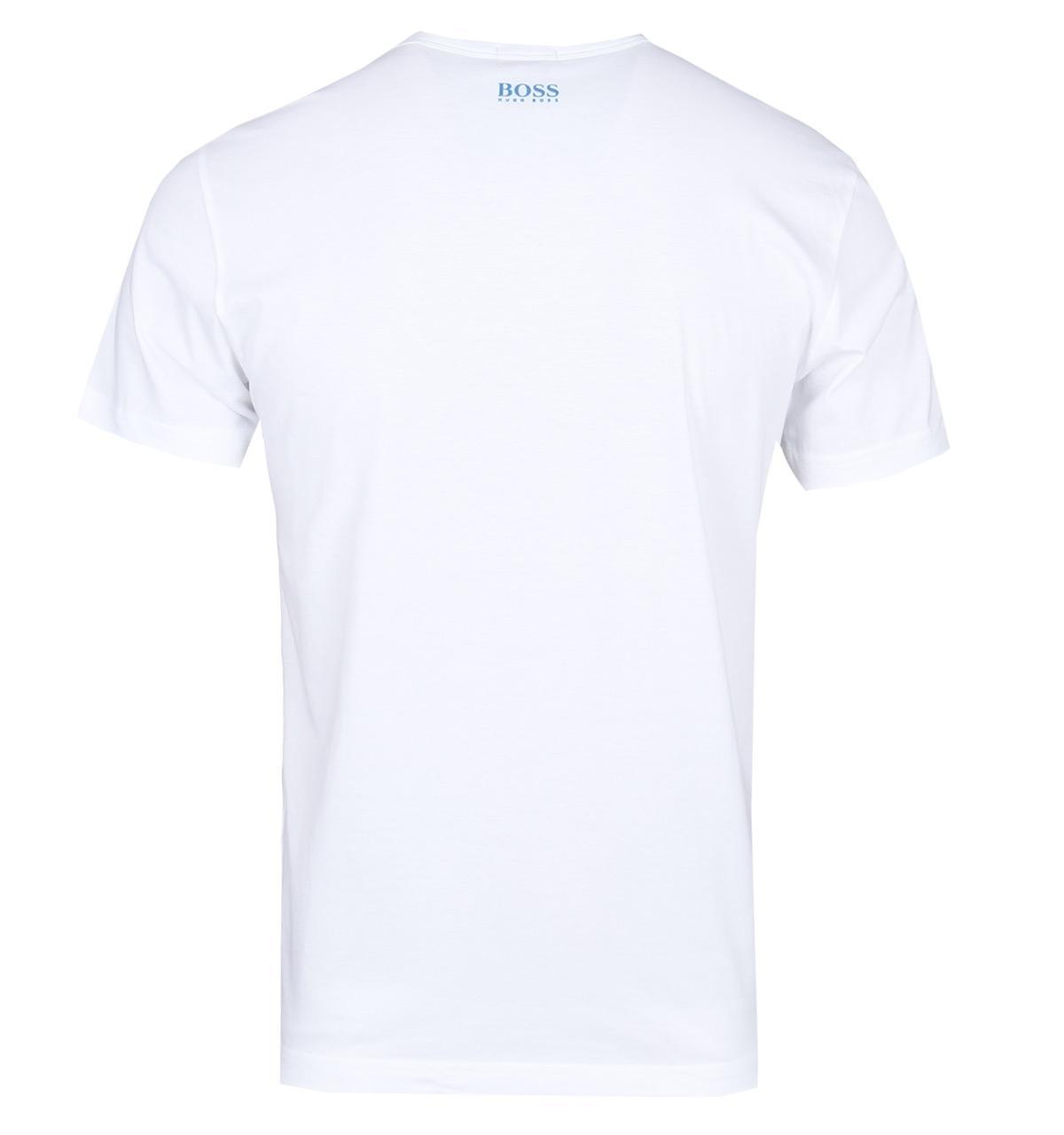 3ec979cb57 BOSS Green - Boss Tee2 White Logo T-shirt for Men - Lyst. View fullscreen