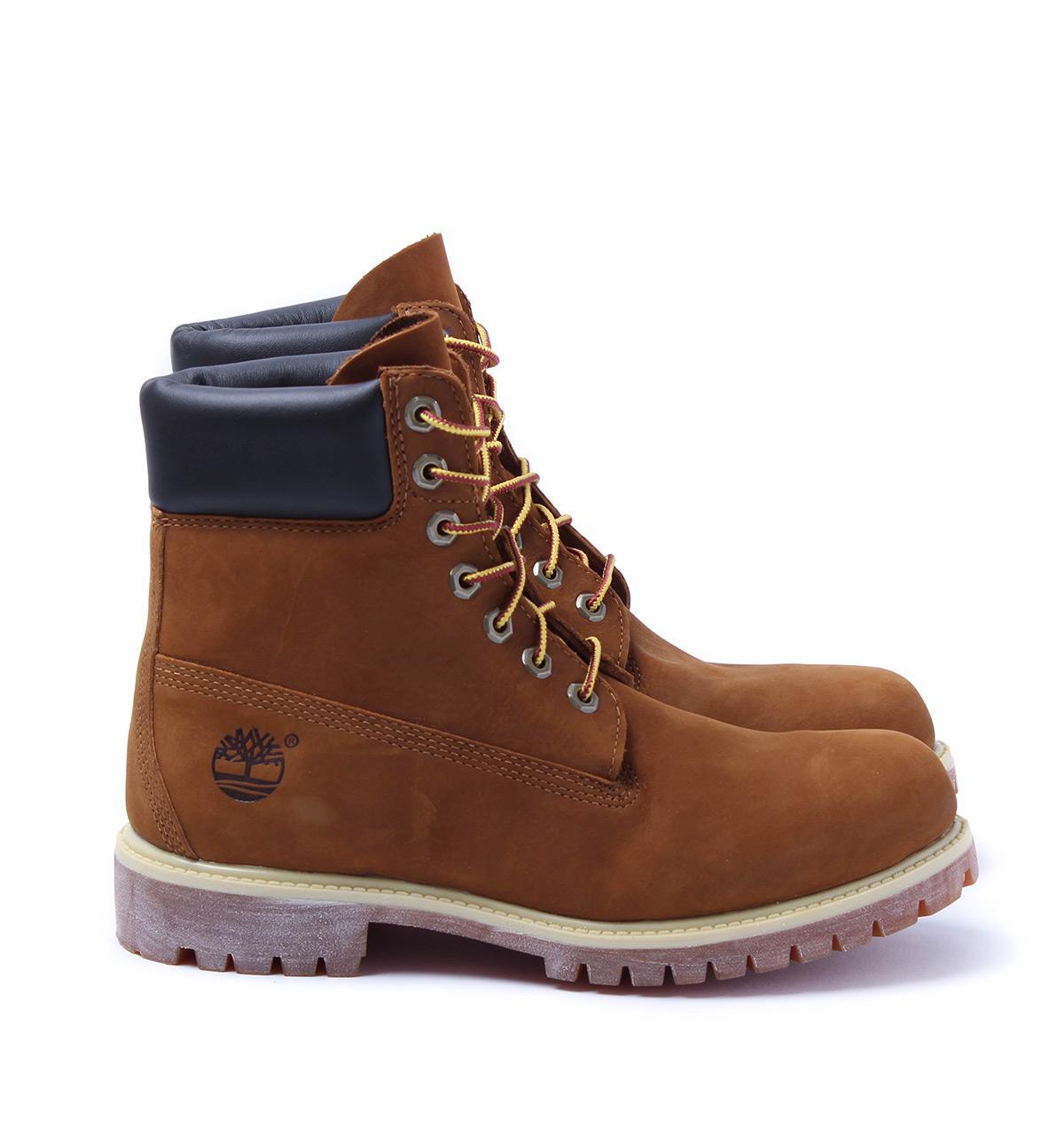 52f1de2cad6f Lyst - Timberland Rust Nubuck 6-inch Premium Waterproof Boots in ...