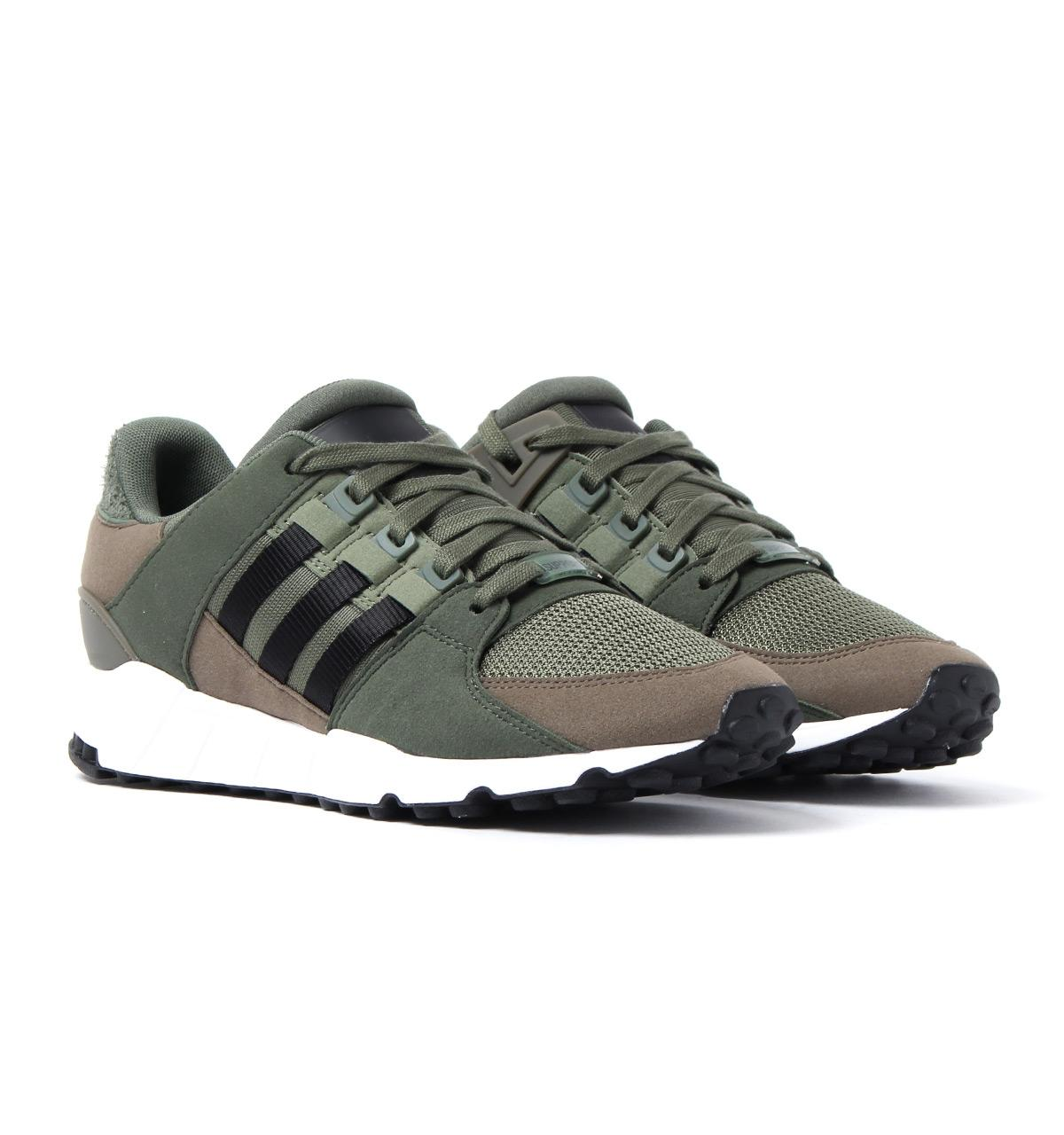 premium selection 291d4 bb721 adidas Originals Eqt Support Rf Army Green Mesh Trainers in Green ...