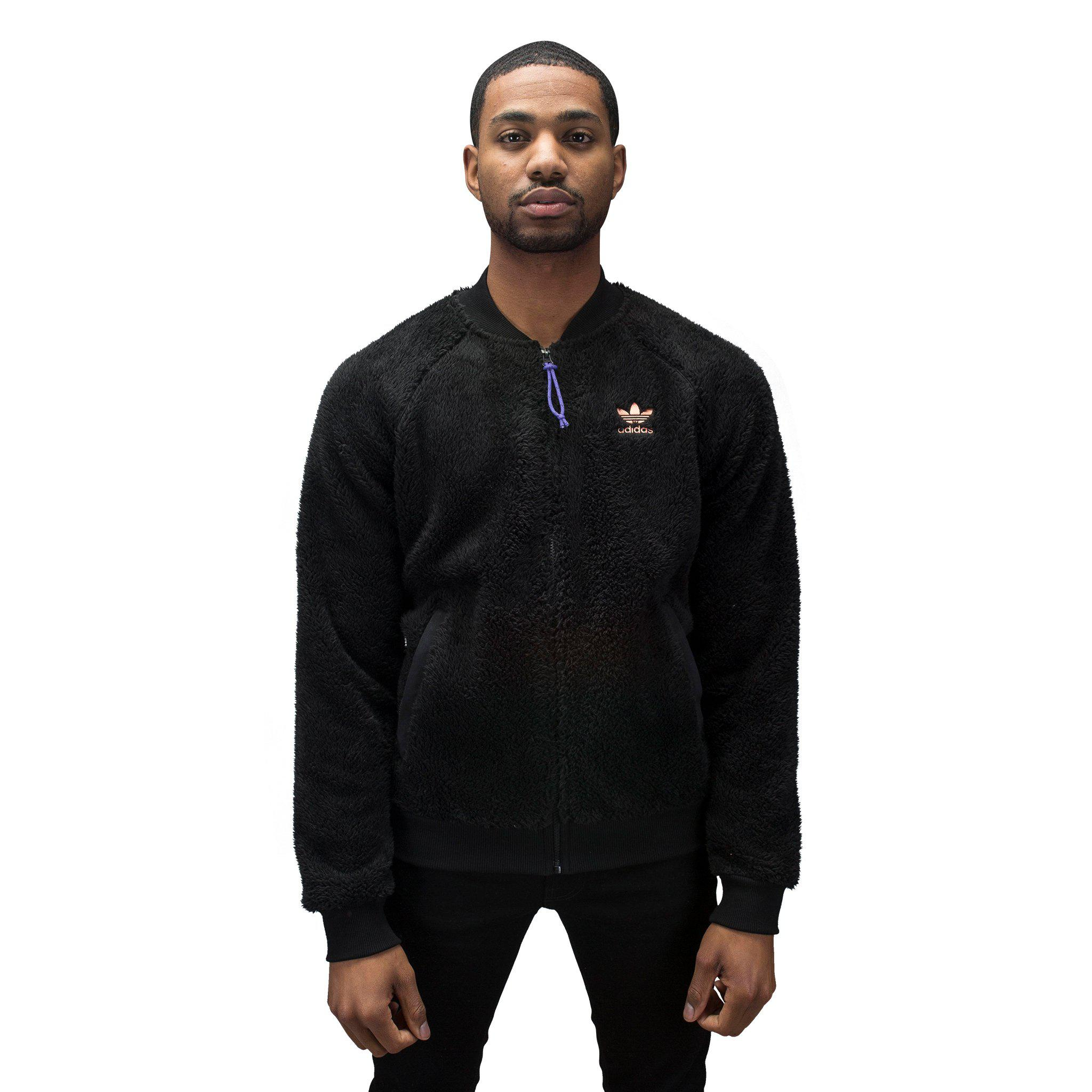 95082756bee26 Lyst - adidas Originals Hu Hiking Polar Track Top in Black for Men