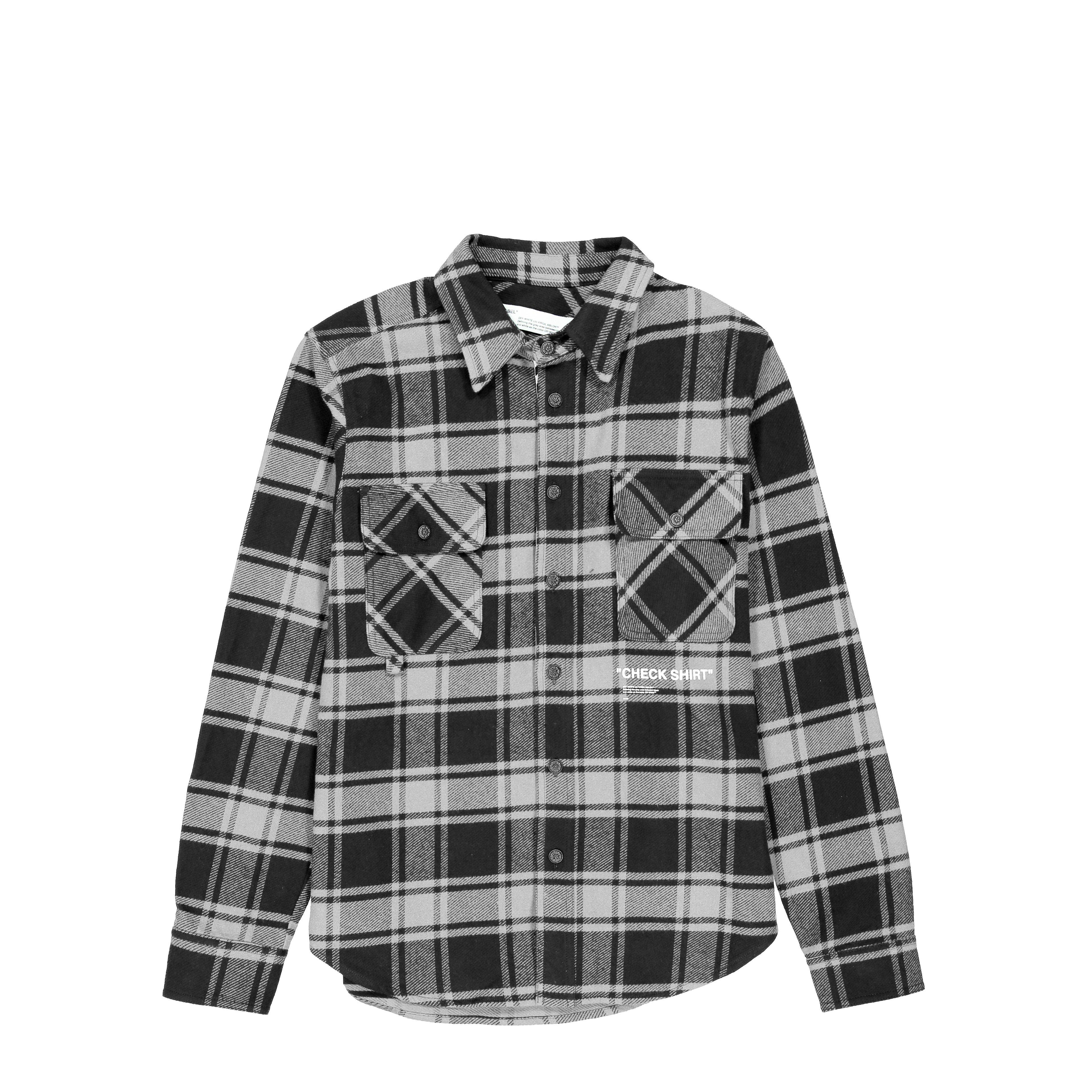 5163d00d3de7 Lyst - Off-White c o Virgil Abloh Quote Flannel Shirt in Gray for Men