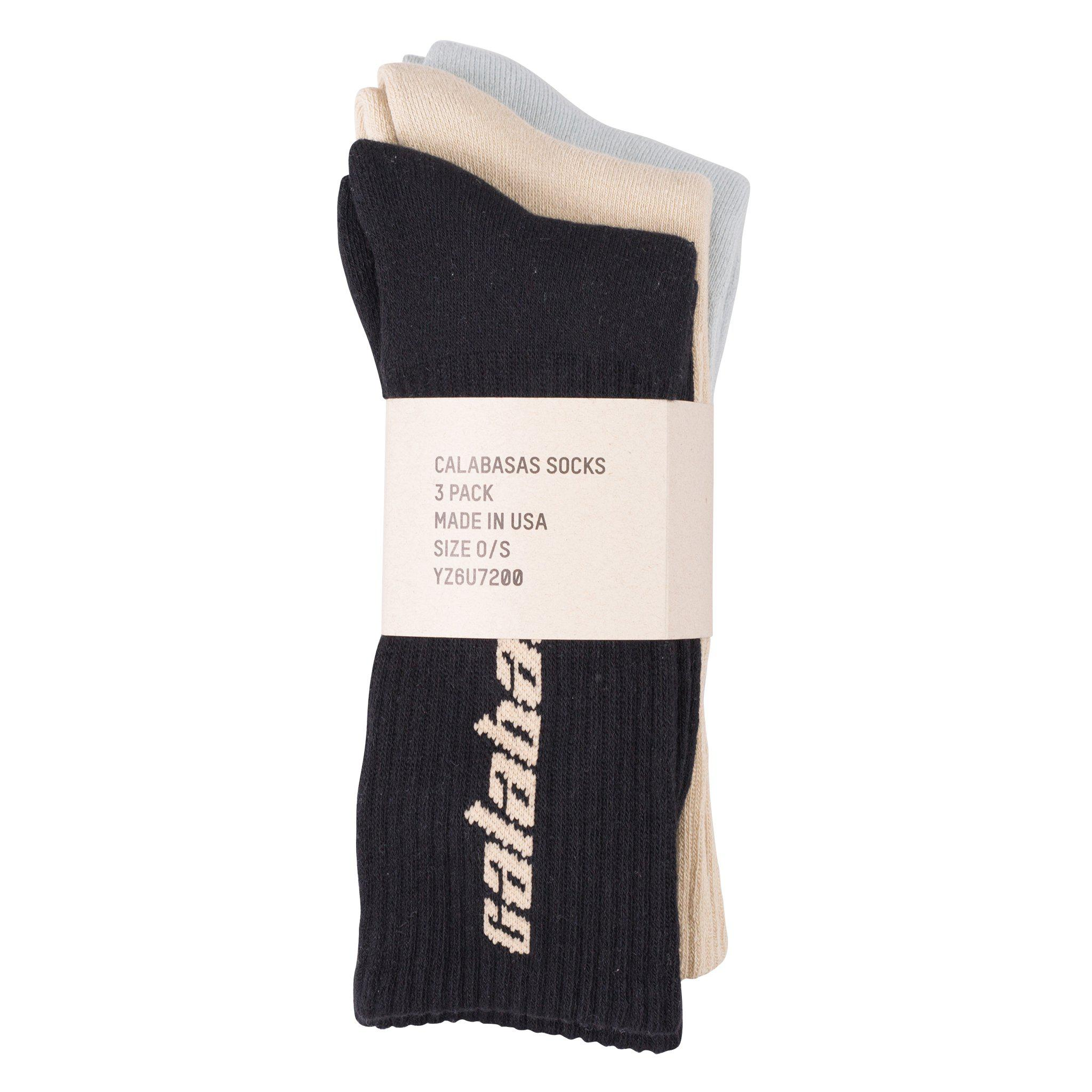8e118cac Yeezy 'calabasas' Socks (3 Pack) for Men - Lyst