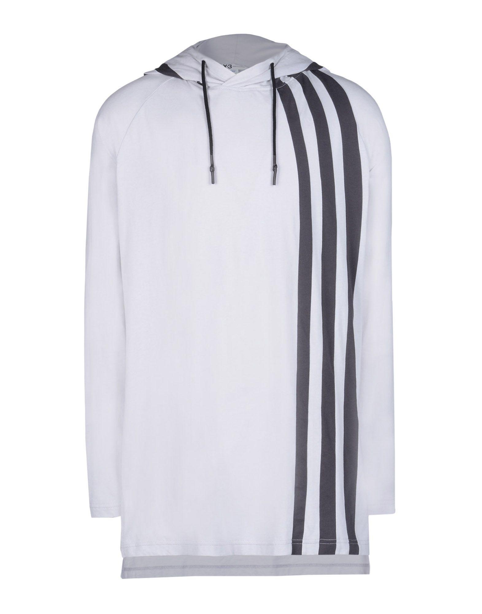 31d4a8d0d2aae Lyst - Y-3 3-stripes Hoodie in Gray for Men