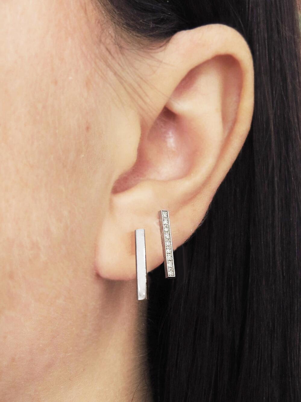 Long Bar Stud Earrings Lyst View Fullscreen