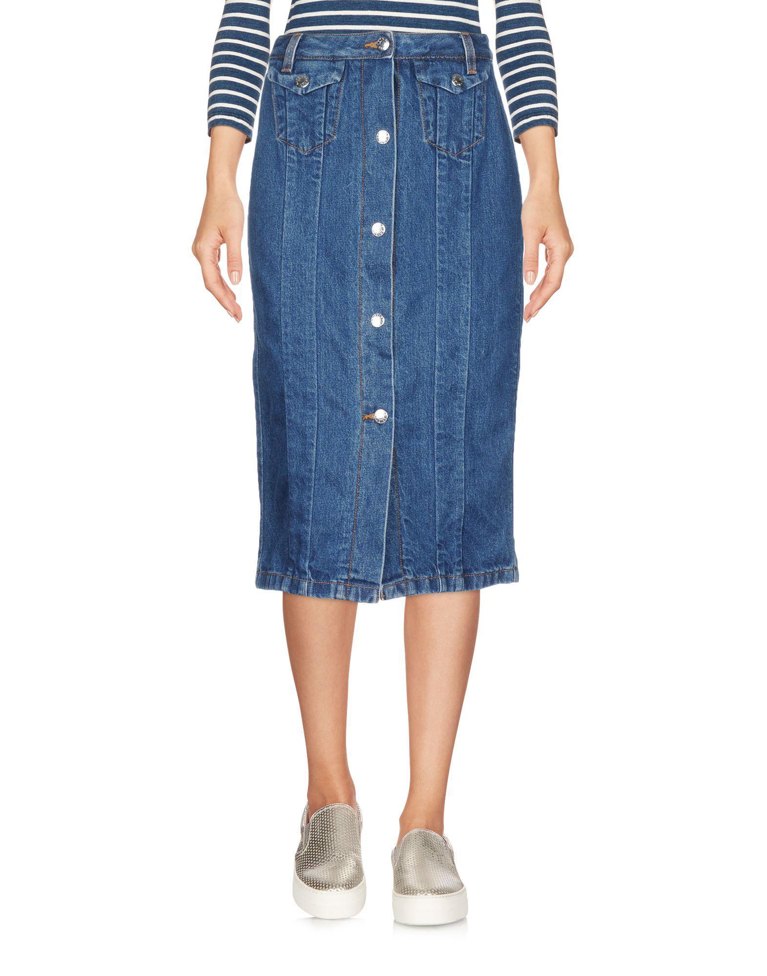 4995e8b28a83 Acne Studios. Jupe en jean femme de coloris bleu