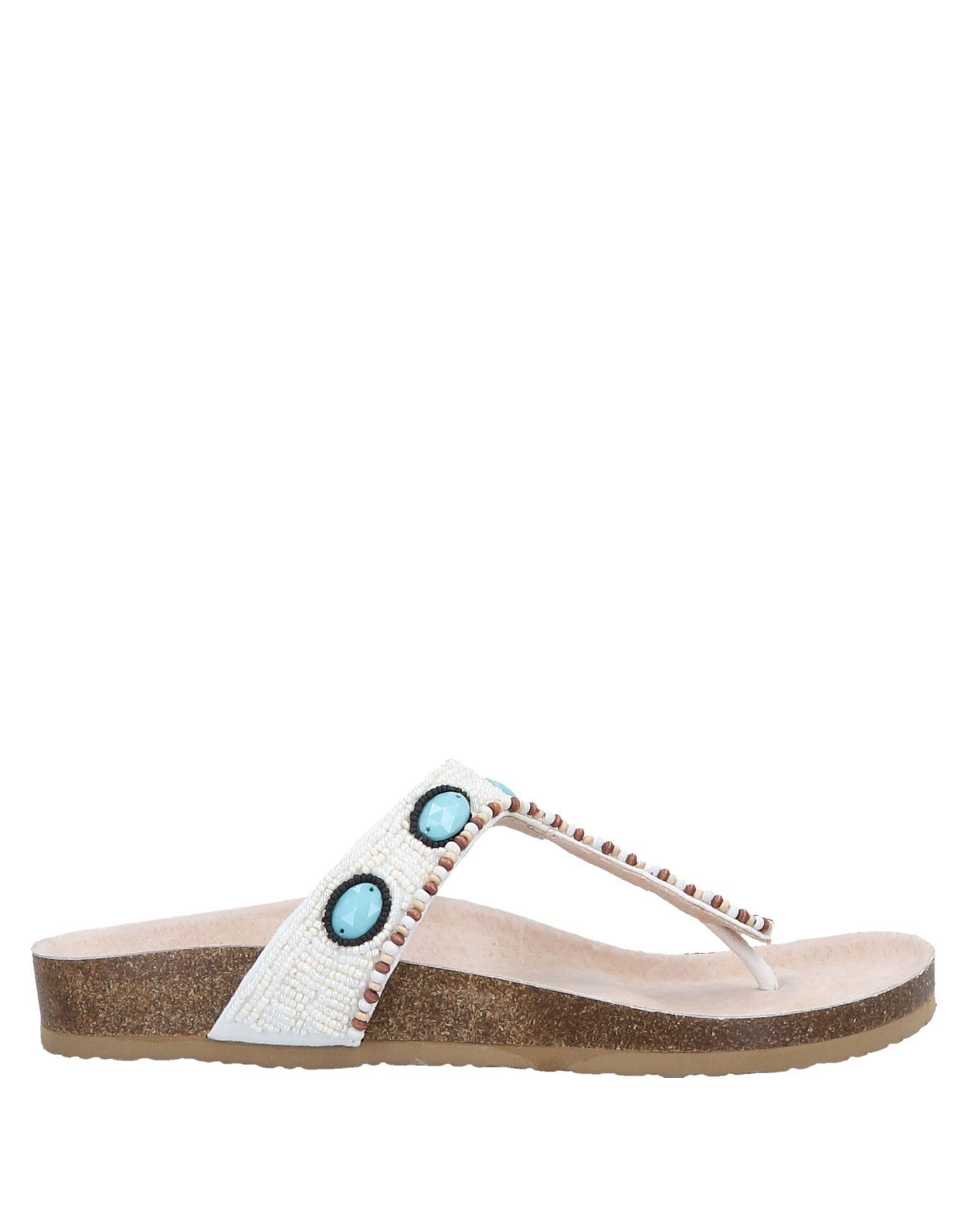 1c1eafa8c55f69 Lumberjack Toe Post Sandal in White - Save 26% - Lyst