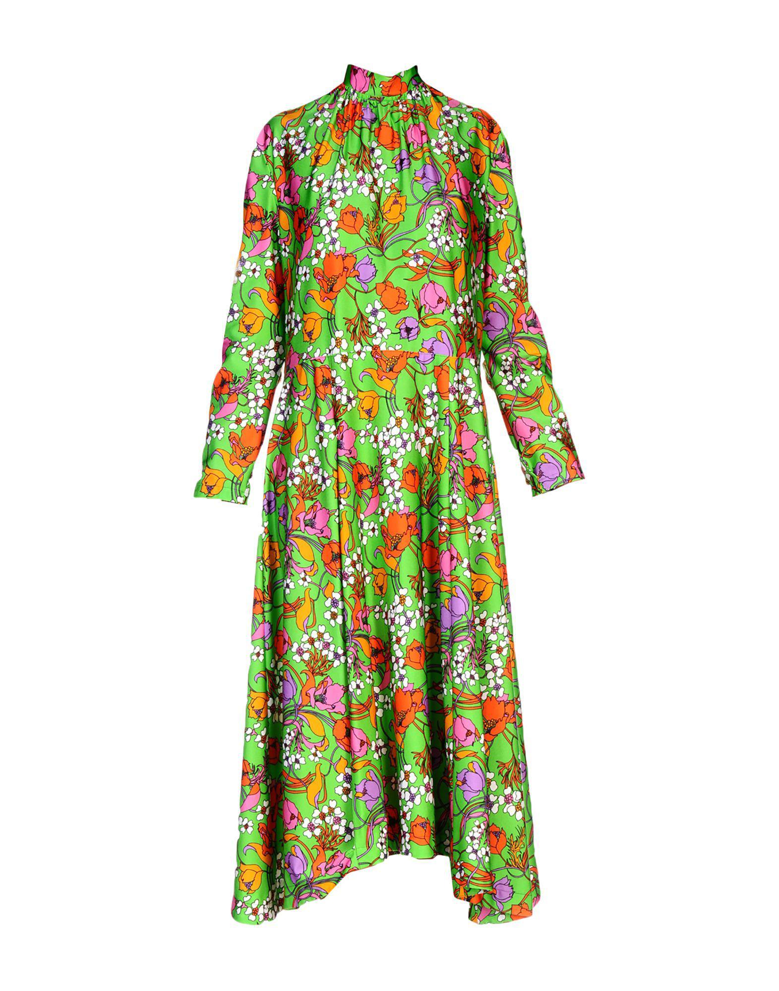 2bd045ff6df4 Balenciaga -  strangled  Floral Print Dress - Women - Polyamide ...