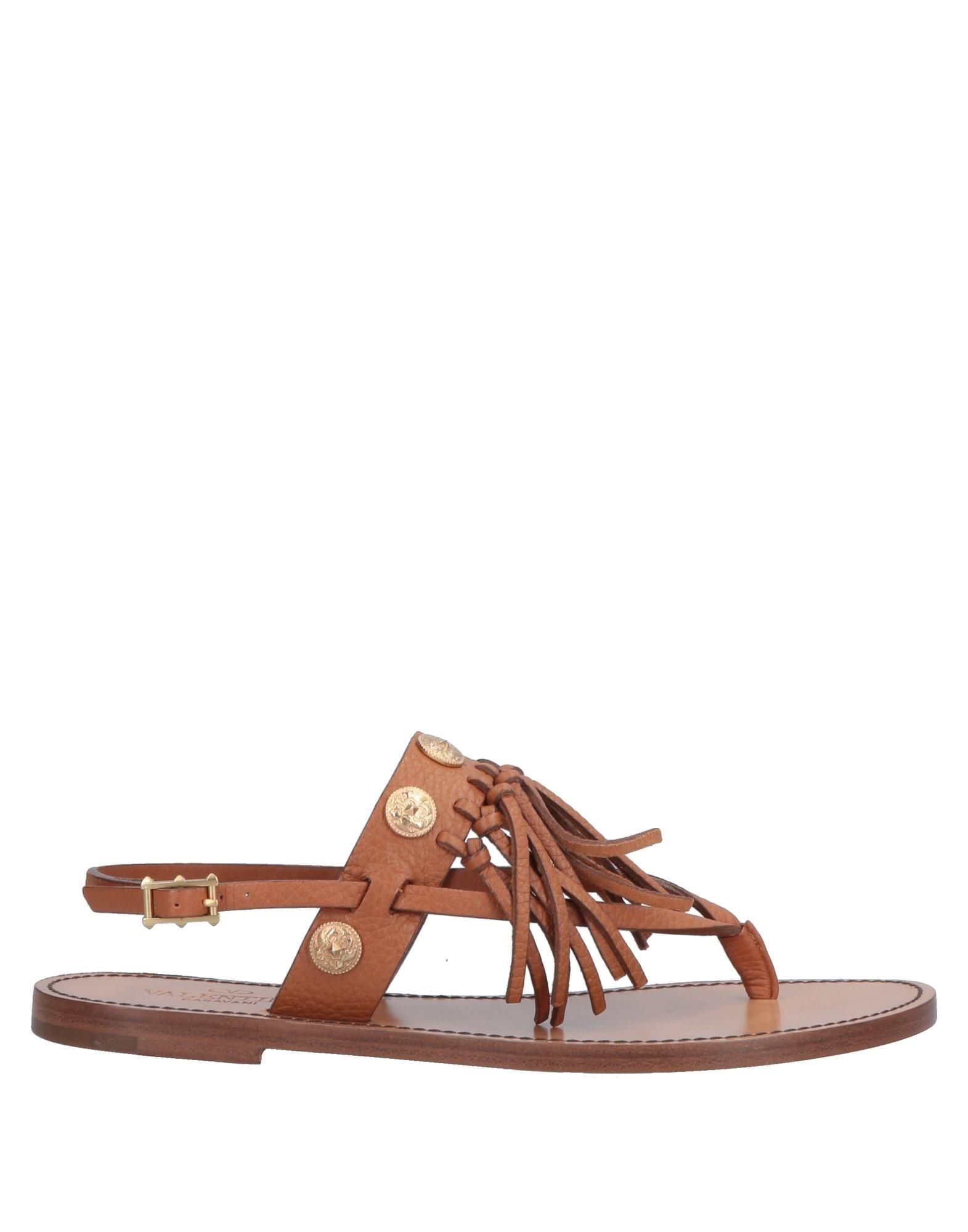 0fd907ef3d69 Lyst - Valentino Toe Strap Sandal in Brown