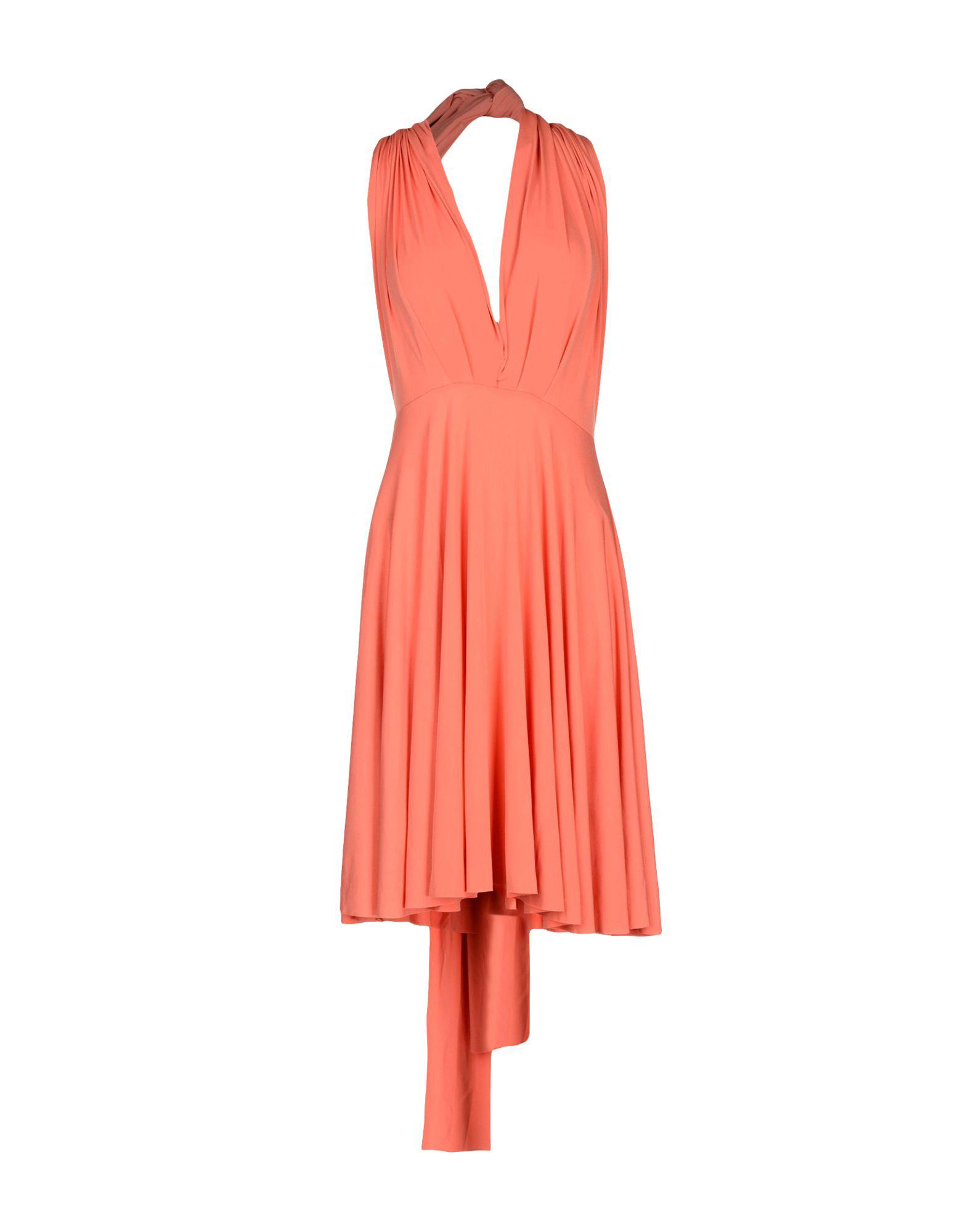 097061bca7 Lyst - Von Vonni Short Dress in Orange