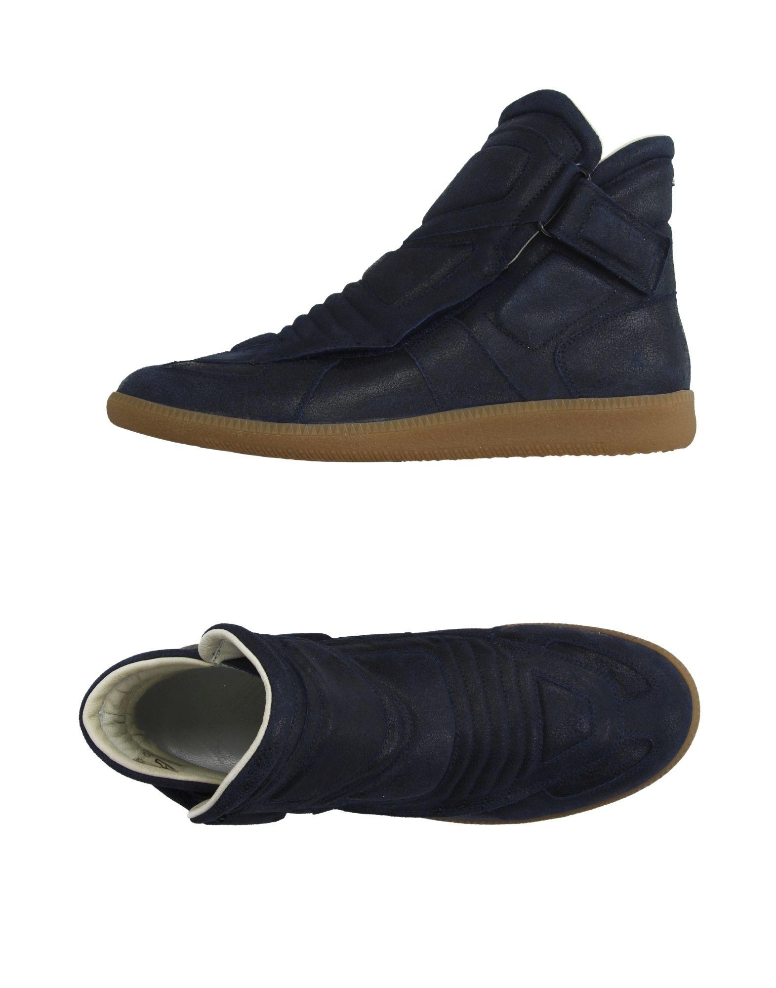 maison margiela high tops sneakers in blue for men lyst. Black Bedroom Furniture Sets. Home Design Ideas