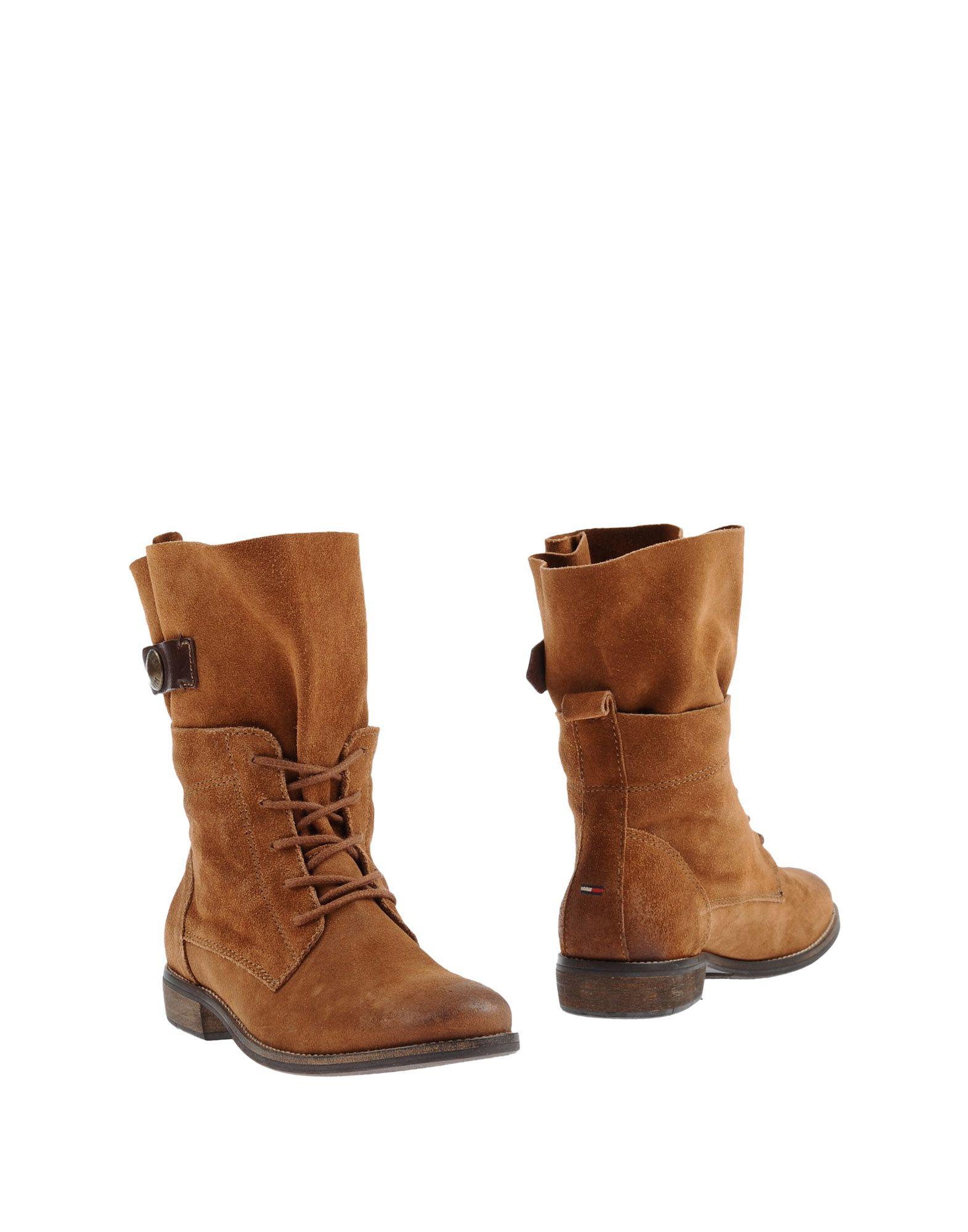 hilfiger denim ankle boots in brown lyst