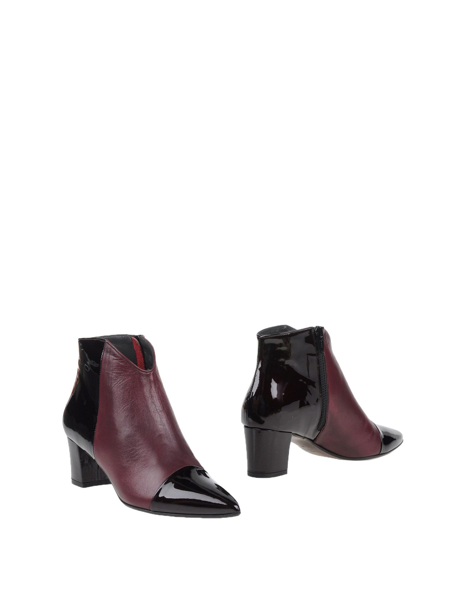 versace ankle boots in maroon lyst