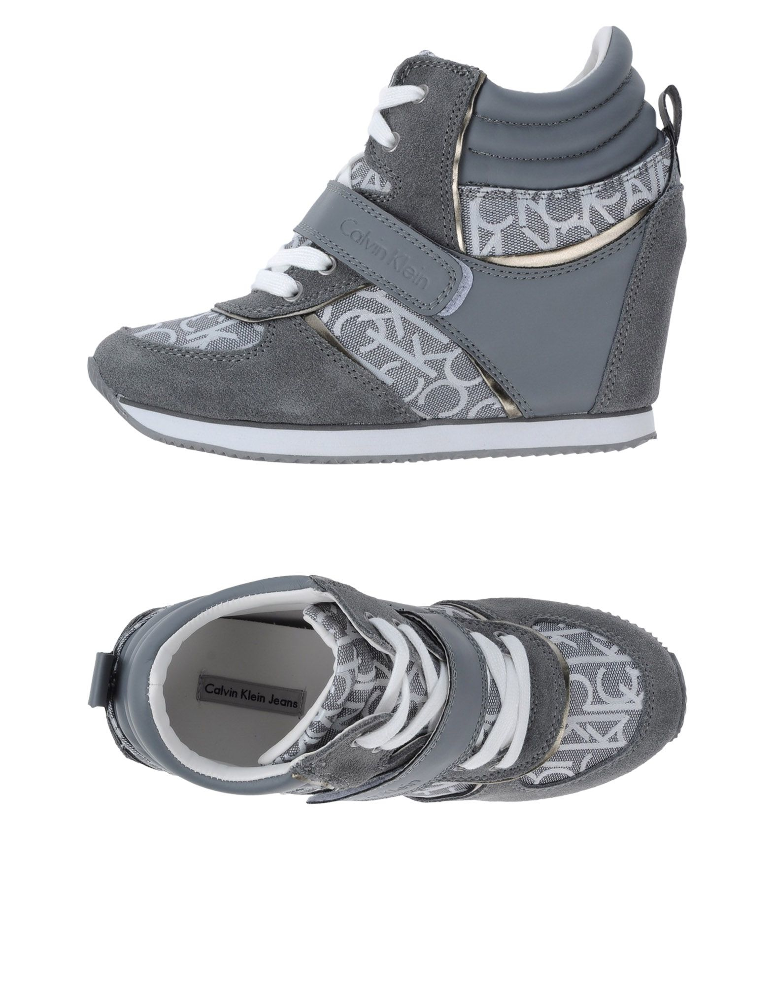 calvin klein jeans high tops trainers in gray lyst. Black Bedroom Furniture Sets. Home Design Ideas