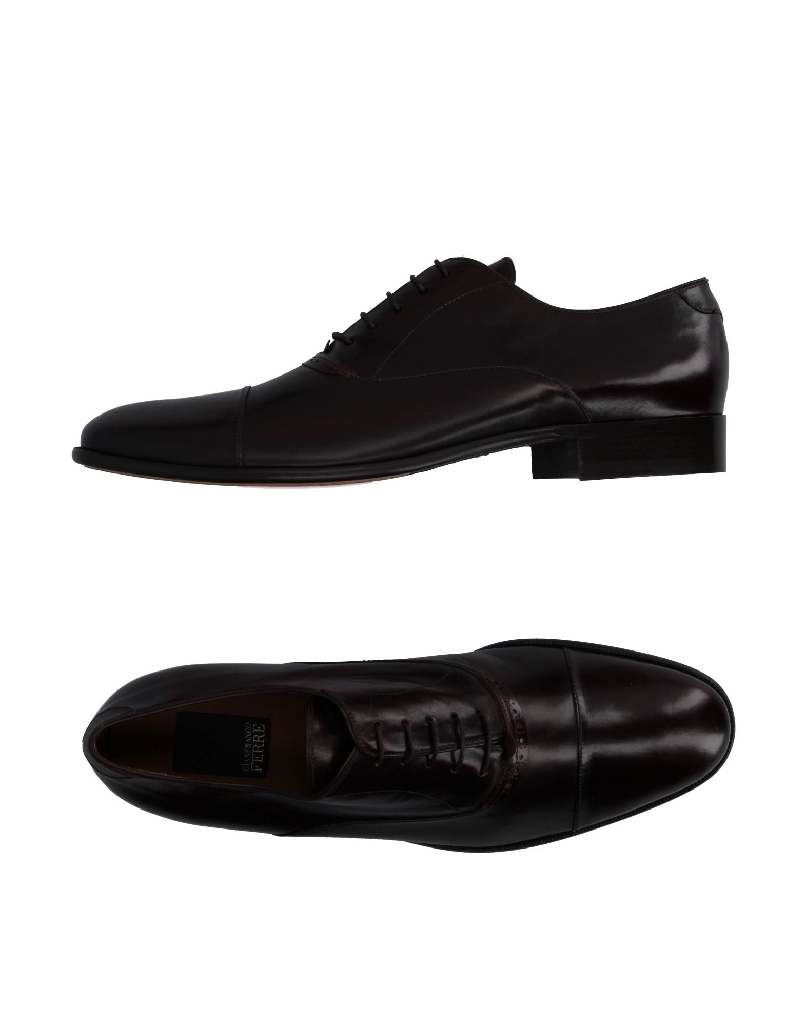 gianfranco ferr 233 lace up shoes in black for