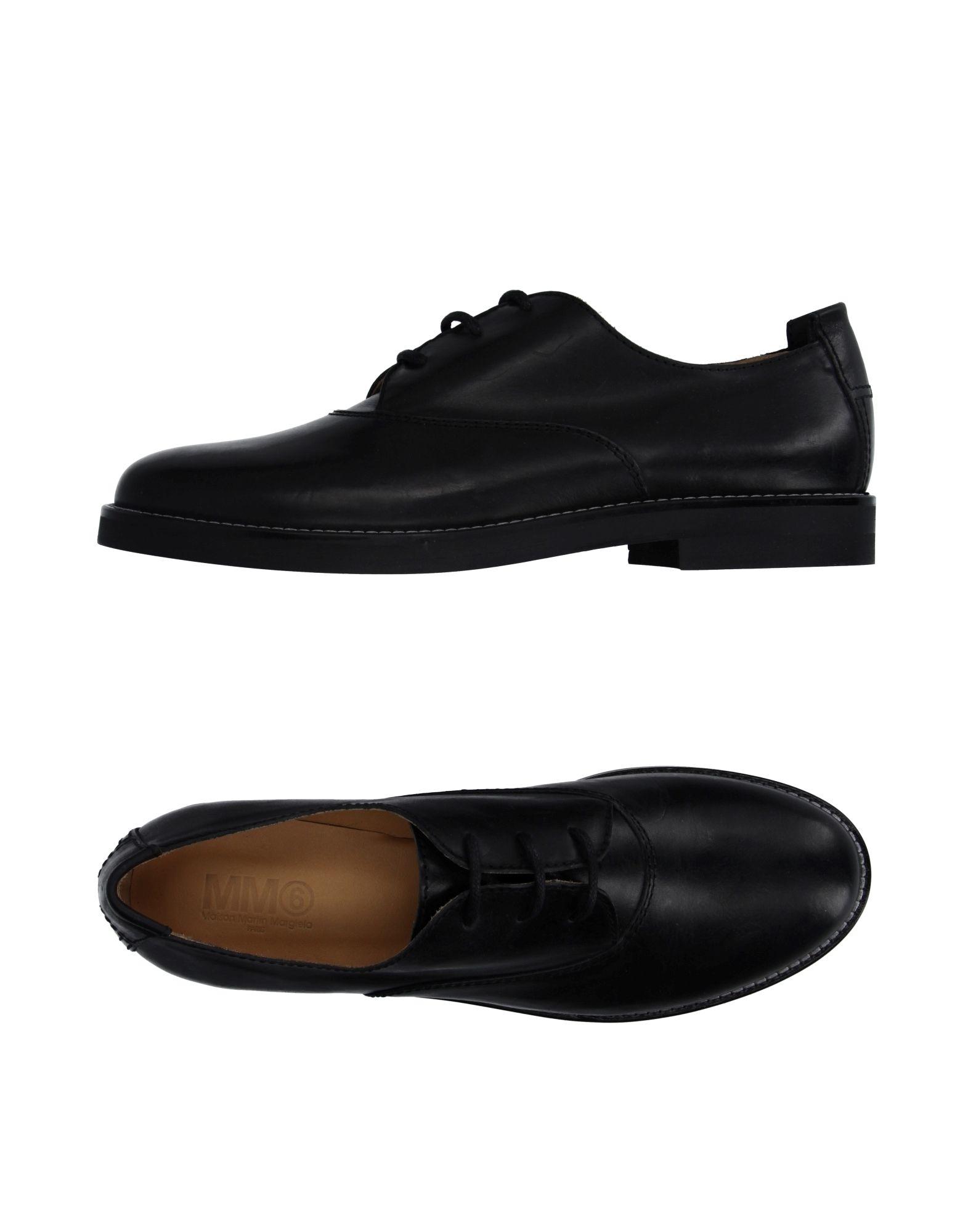 mm6 by maison martin margiela lace up shoe in black for men lyst. Black Bedroom Furniture Sets. Home Design Ideas