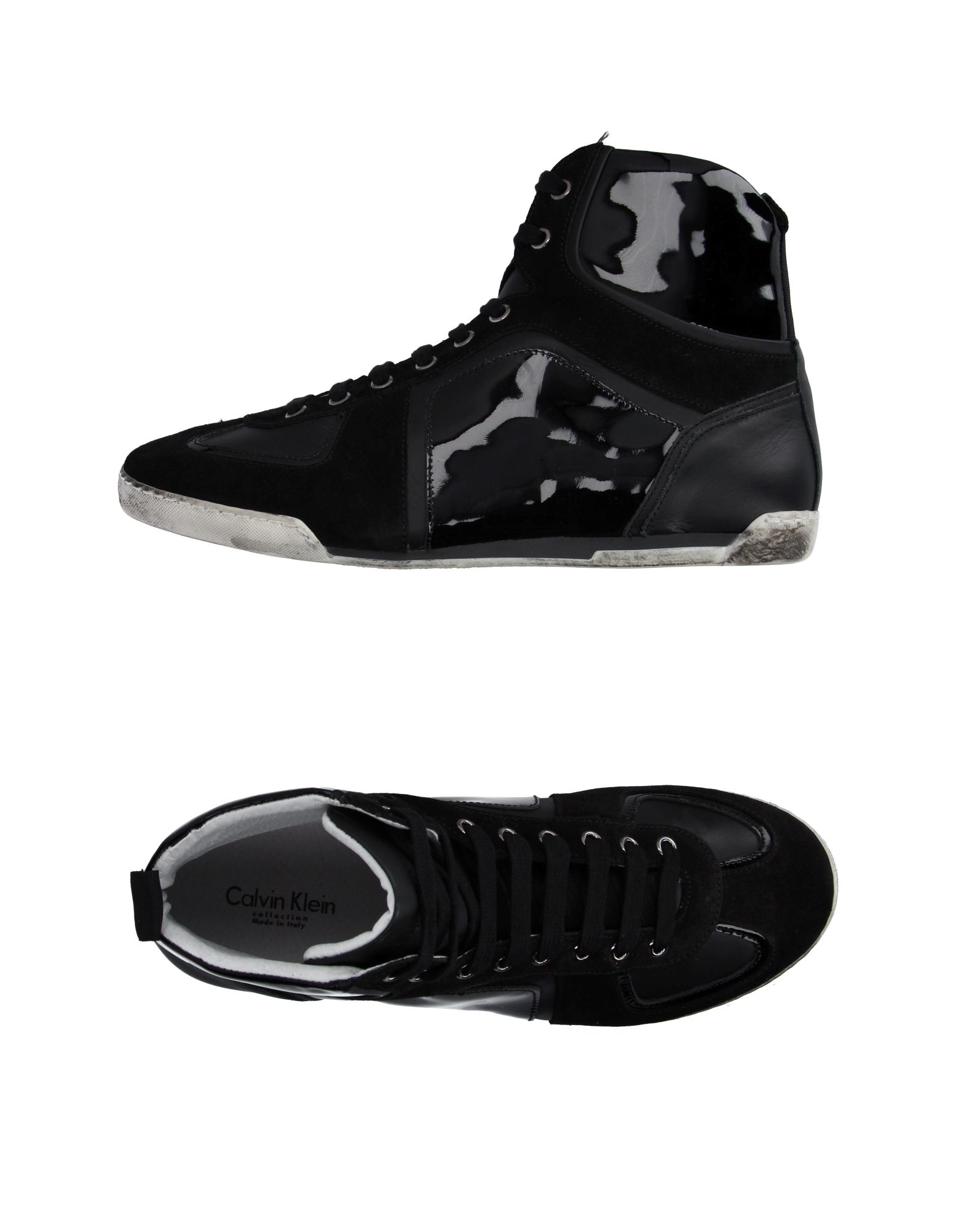 calvin klein high tops sneakers in black for men lyst. Black Bedroom Furniture Sets. Home Design Ideas