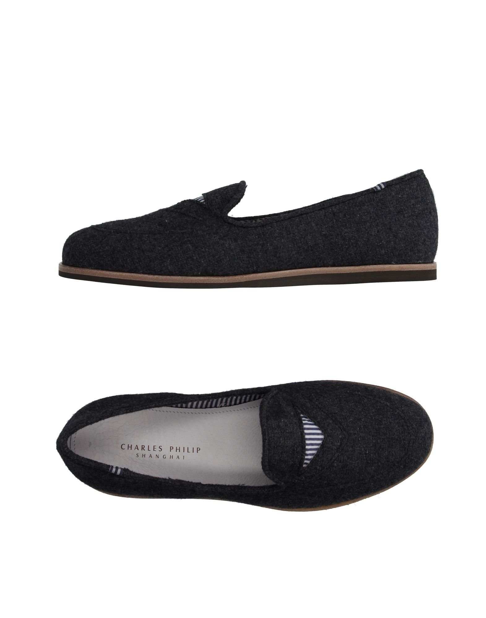 Lyst Cp Charles Philip Shanghai Moccasins In Gray For Men